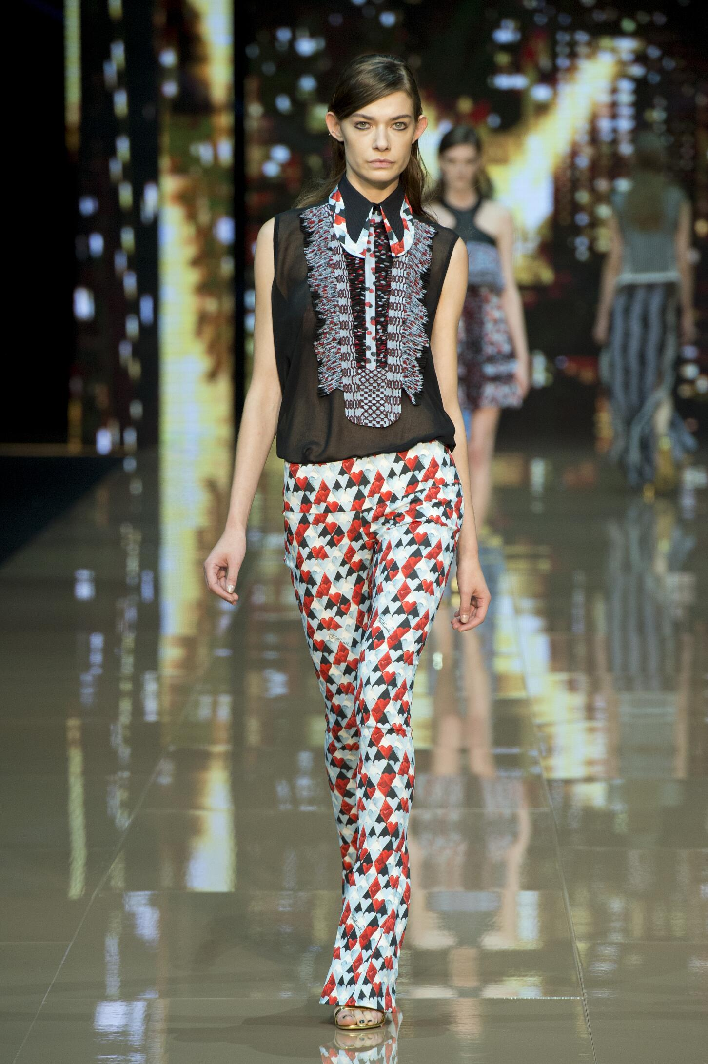 Fashion Woman Model Just Cavalli Catwalk