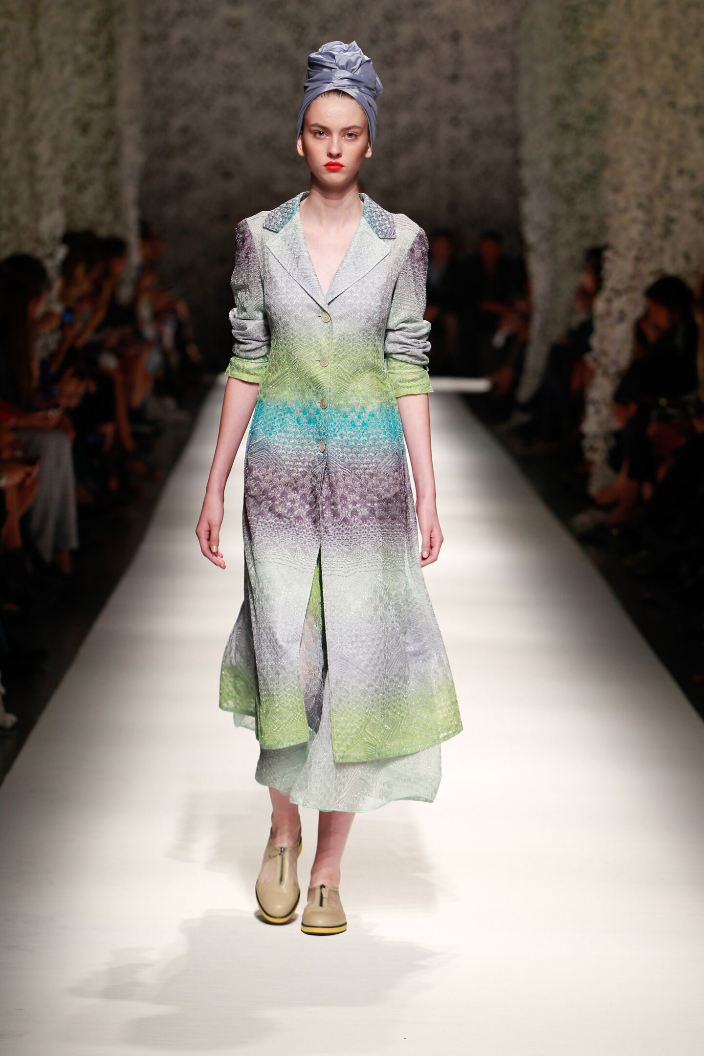 Fashion Woman Model Missoni Catwalk