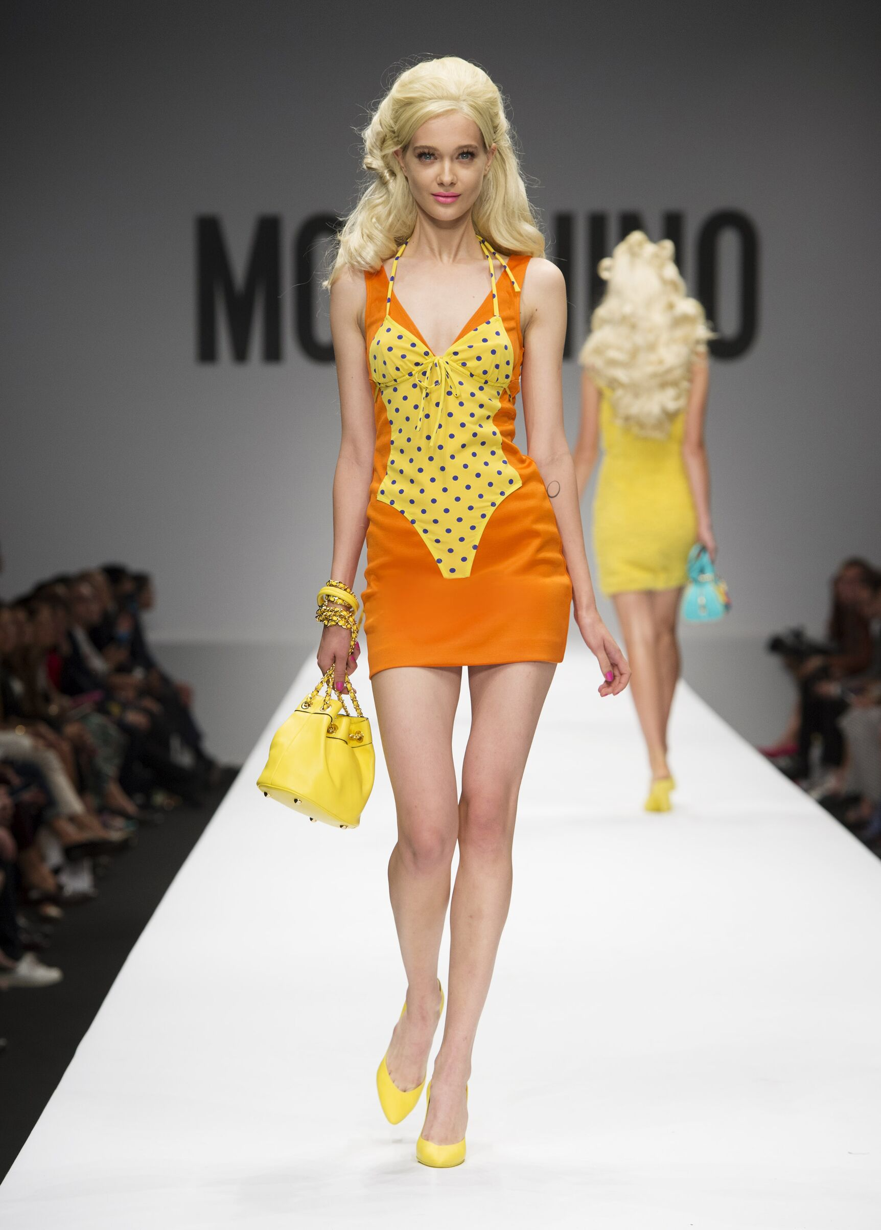 Fashion Woman Model Moschino Catwalk