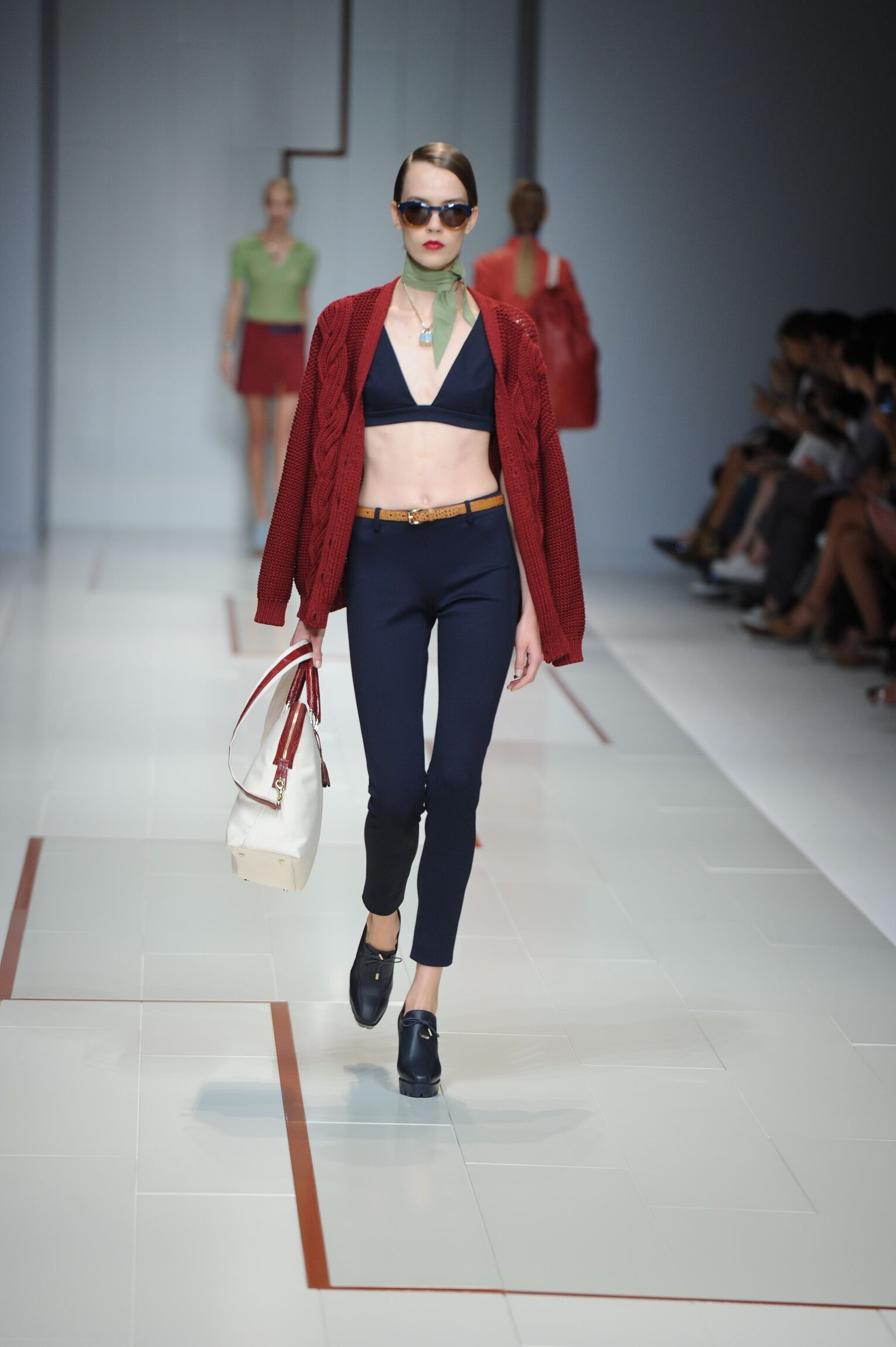 Fashion Woman Model Trussardi Catwalk