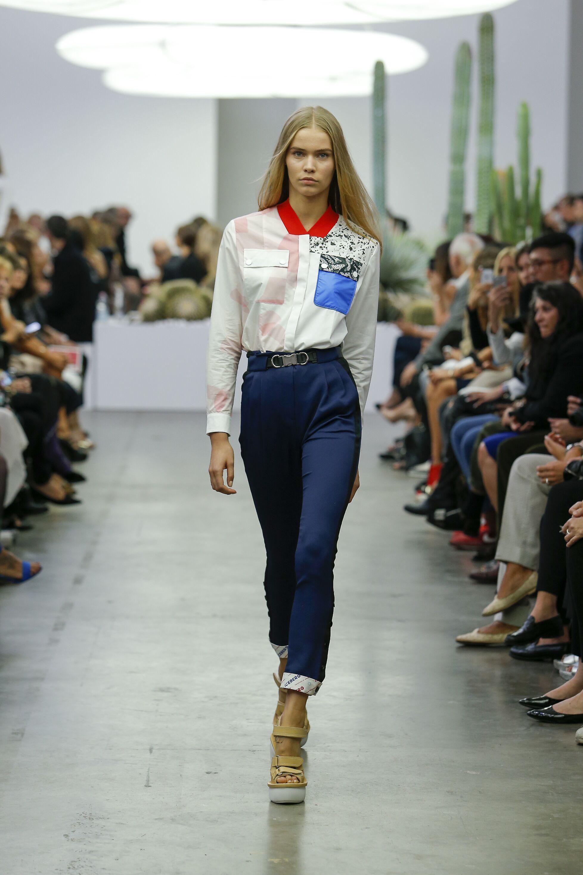 Iceberg Woman Milan Fashion Week