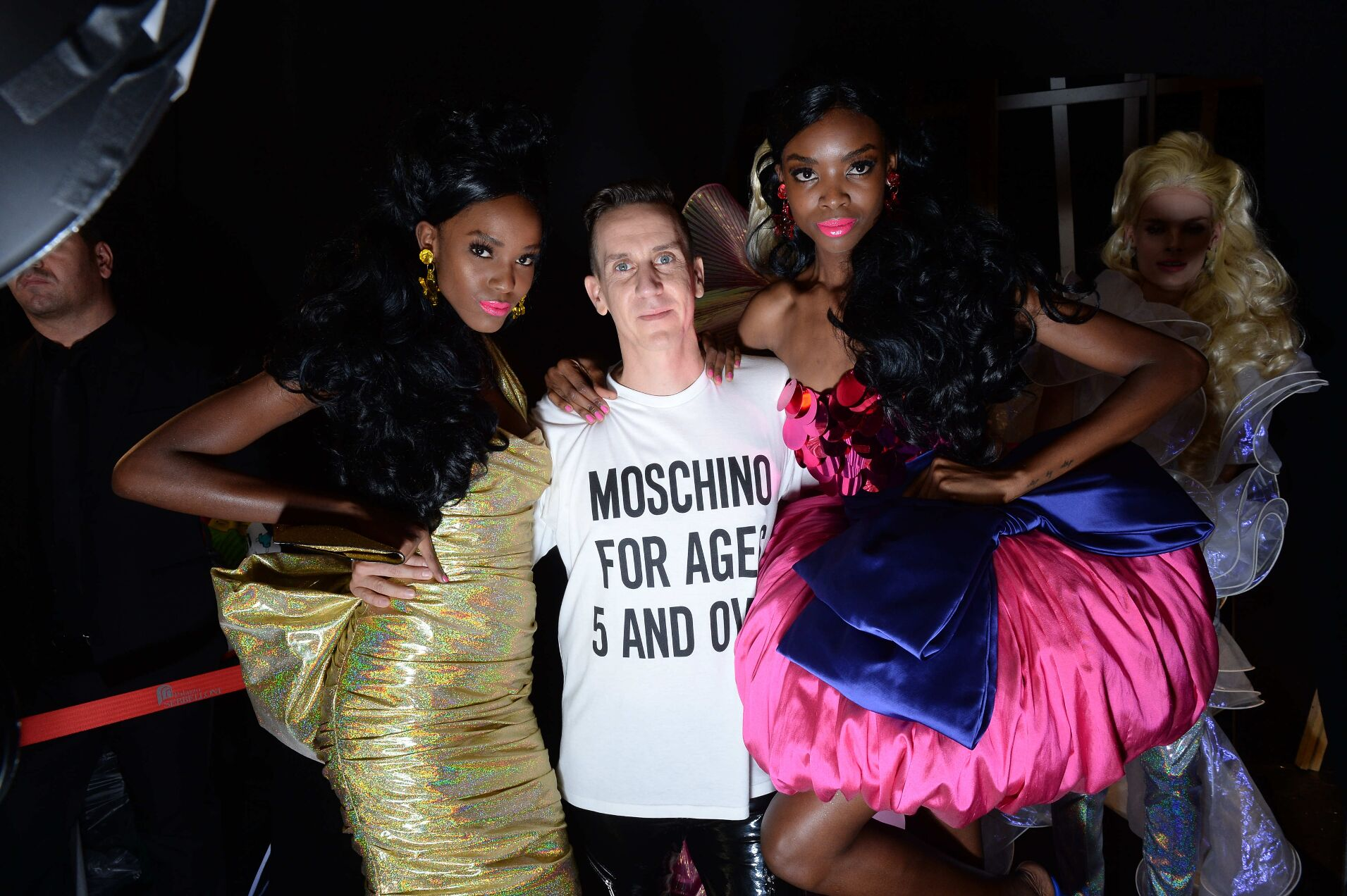 Jeremy Scott Models Backstage Moschino