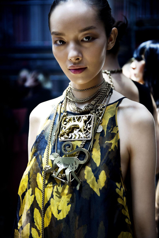 Lanvin Backstage Fashion Model