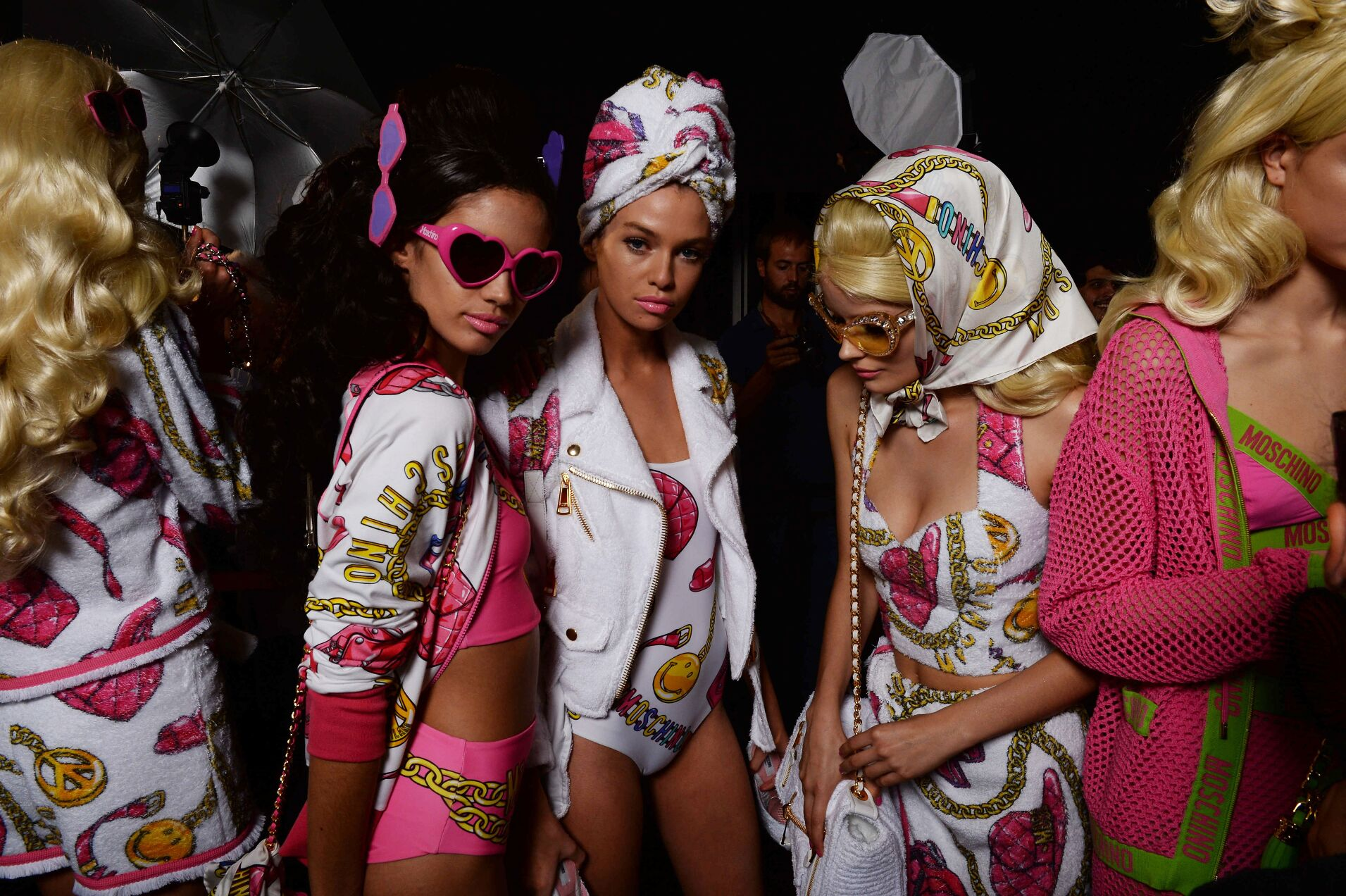 Models Backstage Moschino