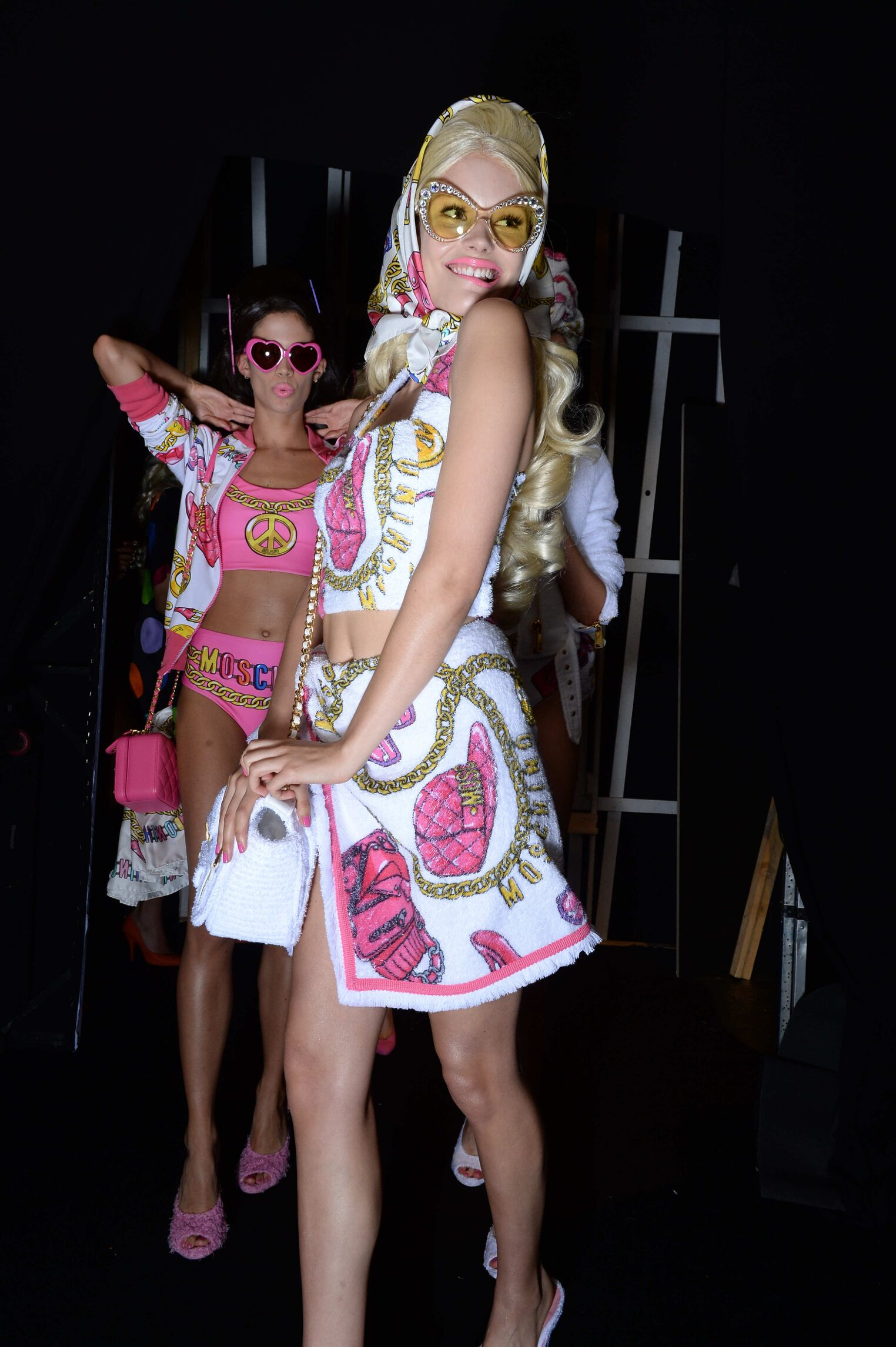 Moschino Backstage Women Models