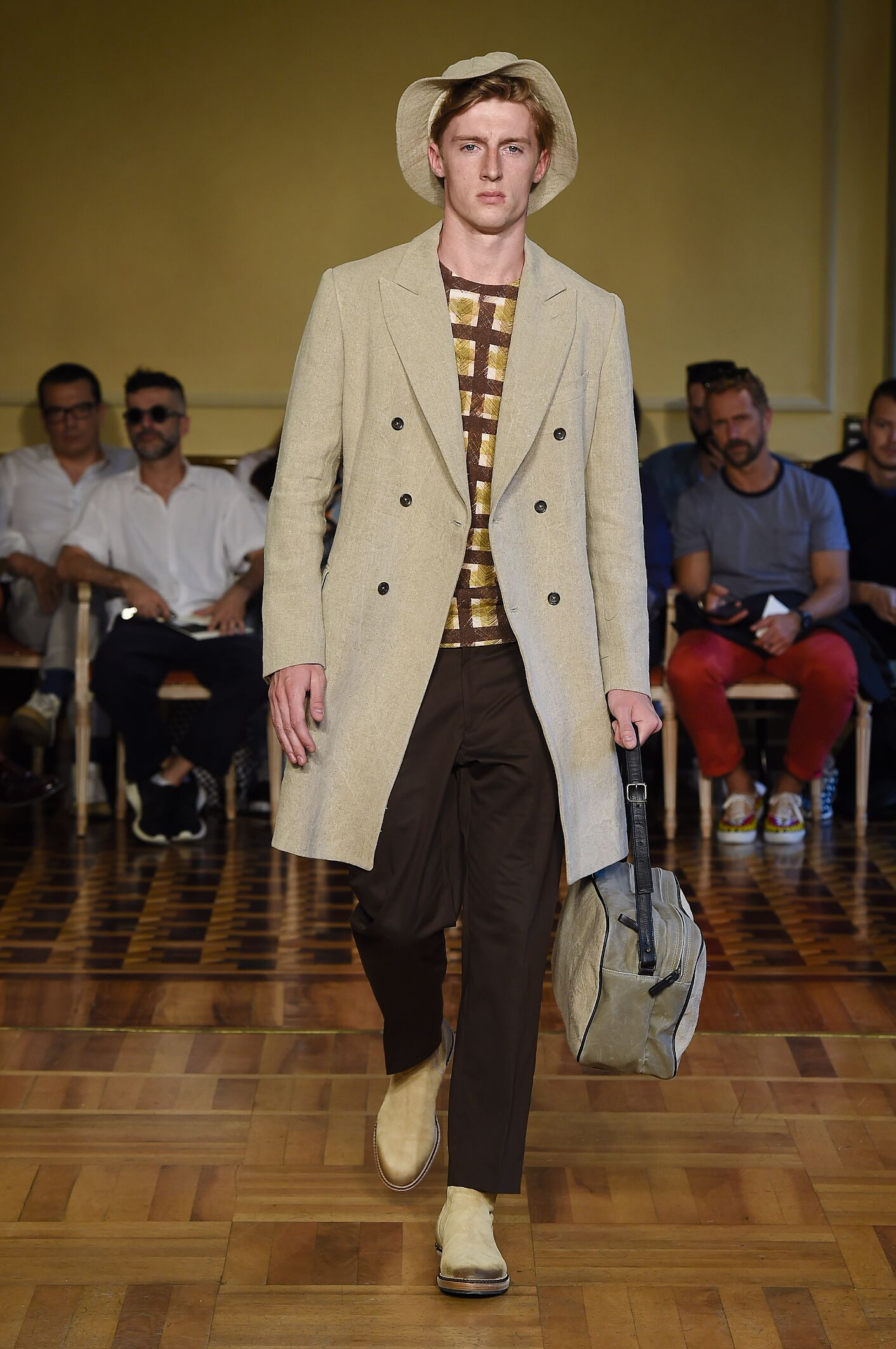 Runway Andrea Incontri Spring Summer 2015 Men's Collection Milan Fashion Week