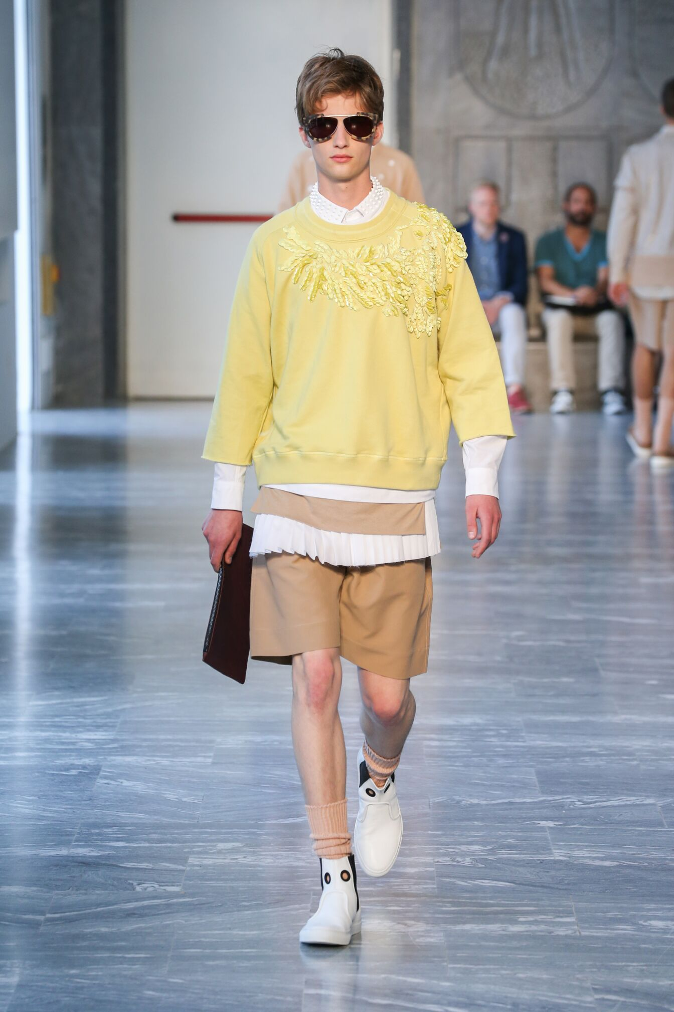 Runway Andrea Pompilio Spring Summer 2015 Men's Collection Milan Fashion Week