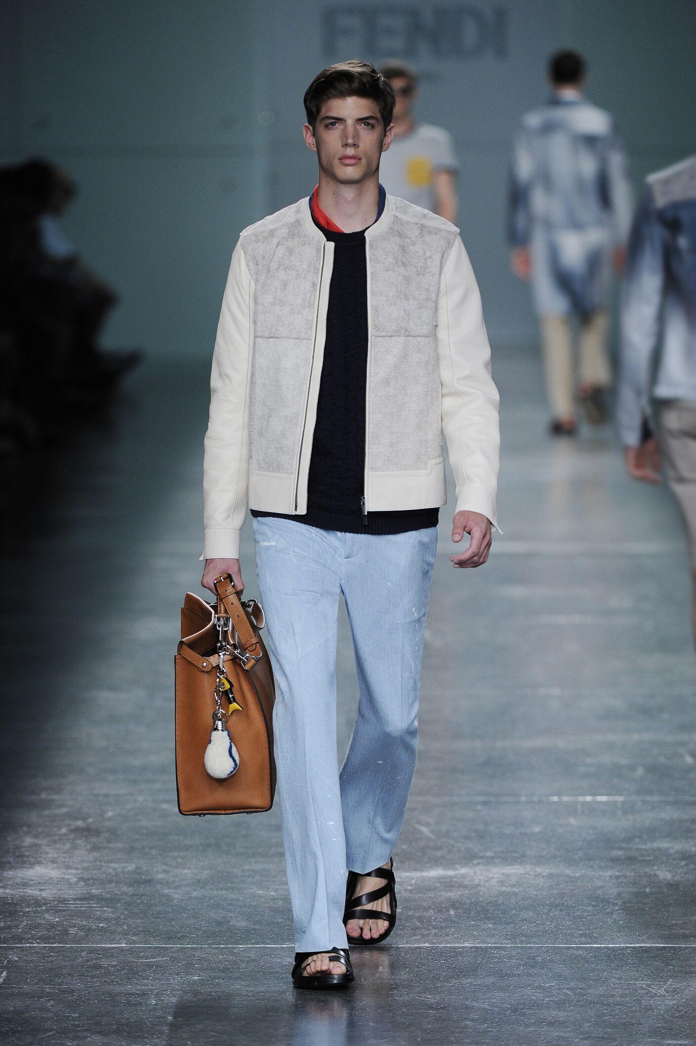 Runway Fendi Spring Summer 2015 Men's Collection Milan Fashion Week
