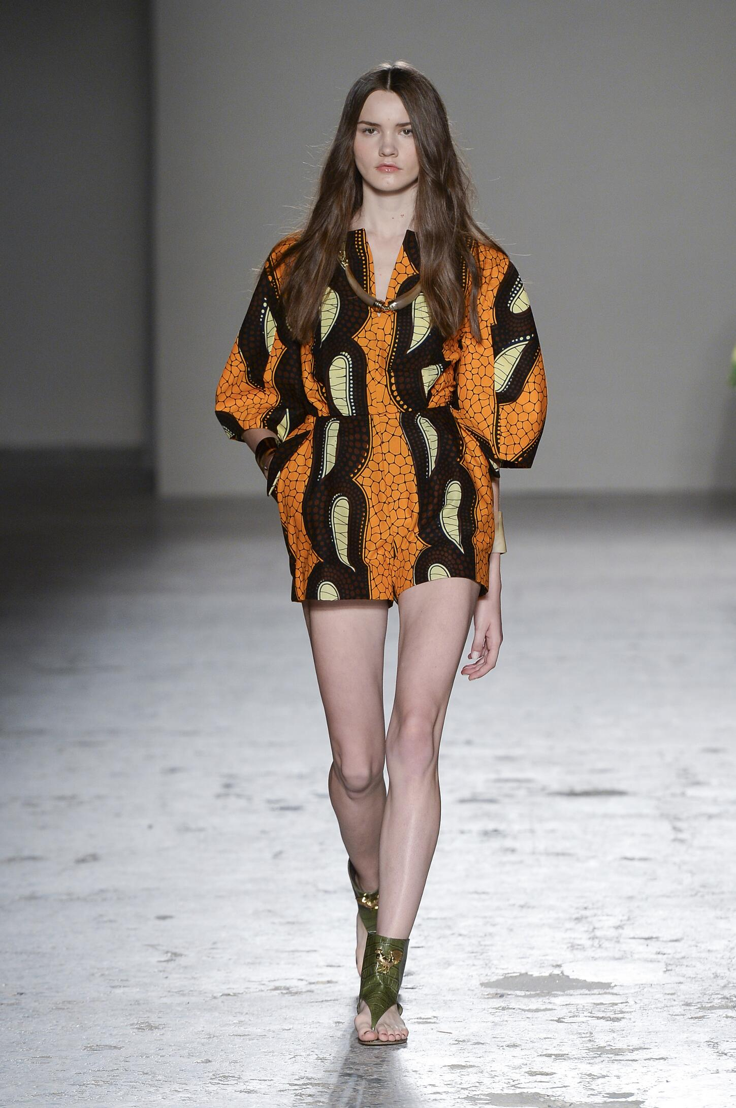 Runway Stella Jean Spring Summer 2015 Women's Collection Milan Fashion Week