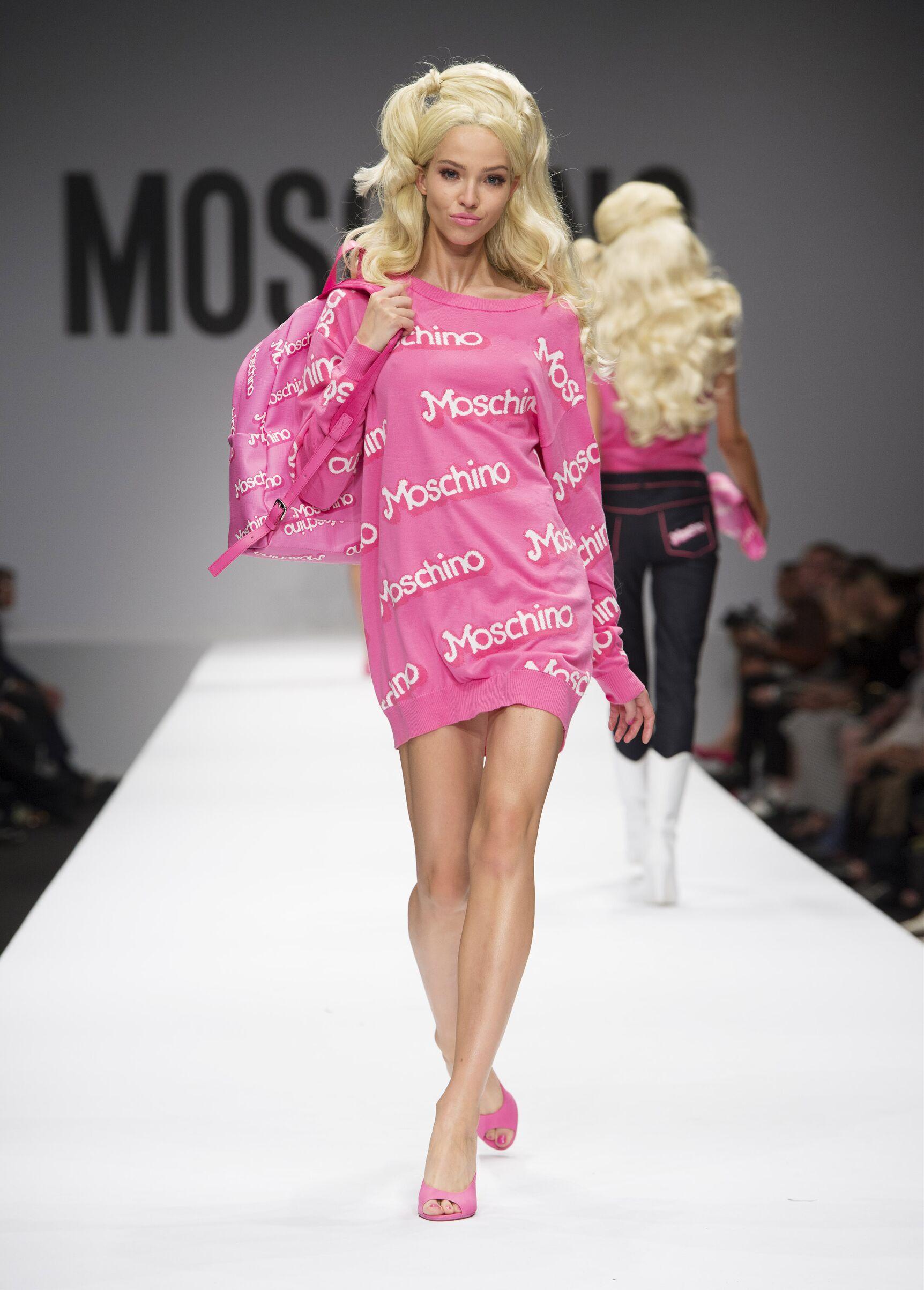 Spring Summer 2015 Fashion Model Moschino Barbie Look