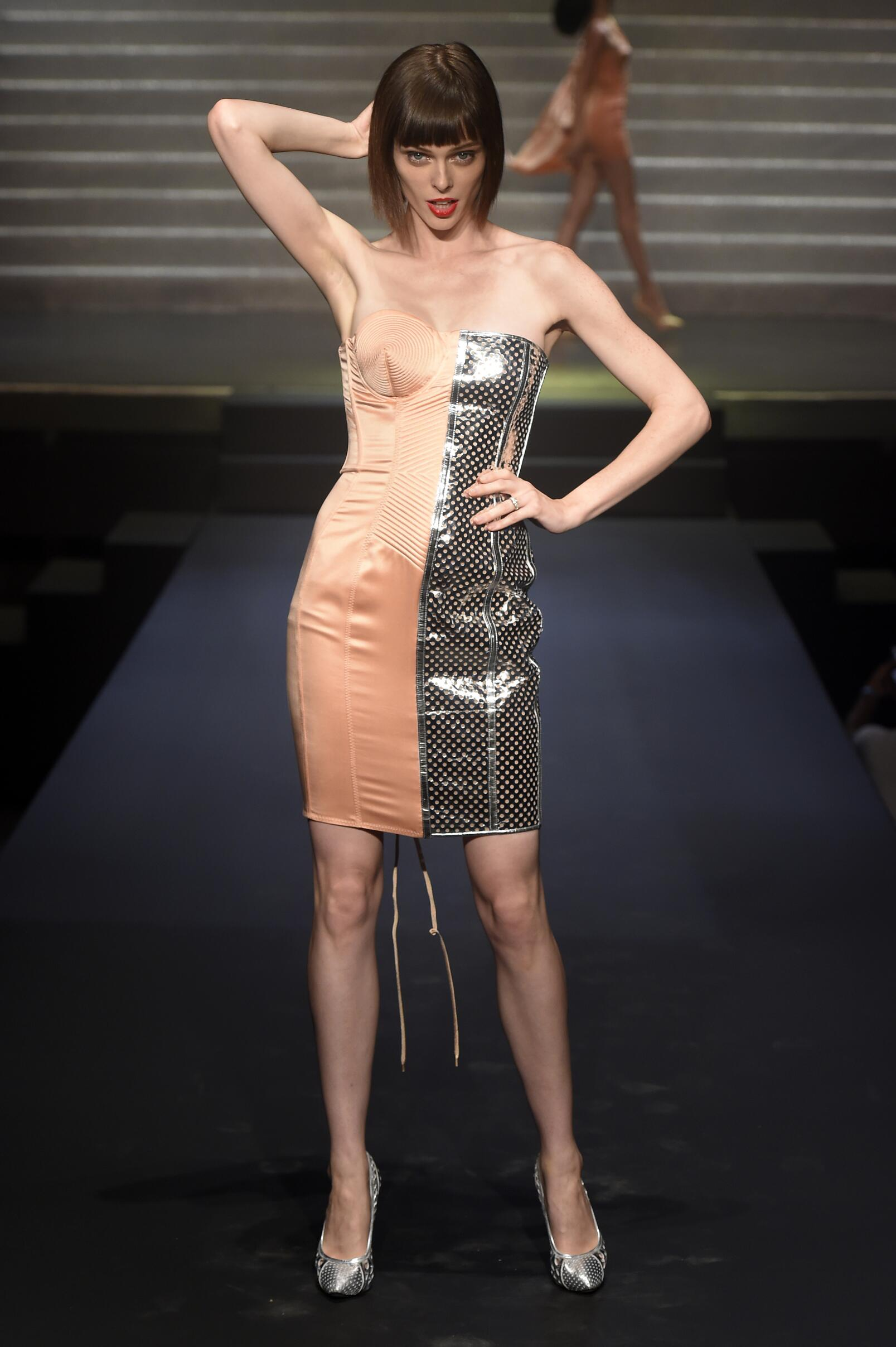 2015 Catwalk Jean Paul Gaultier Woman Fashion Show Summer Paris