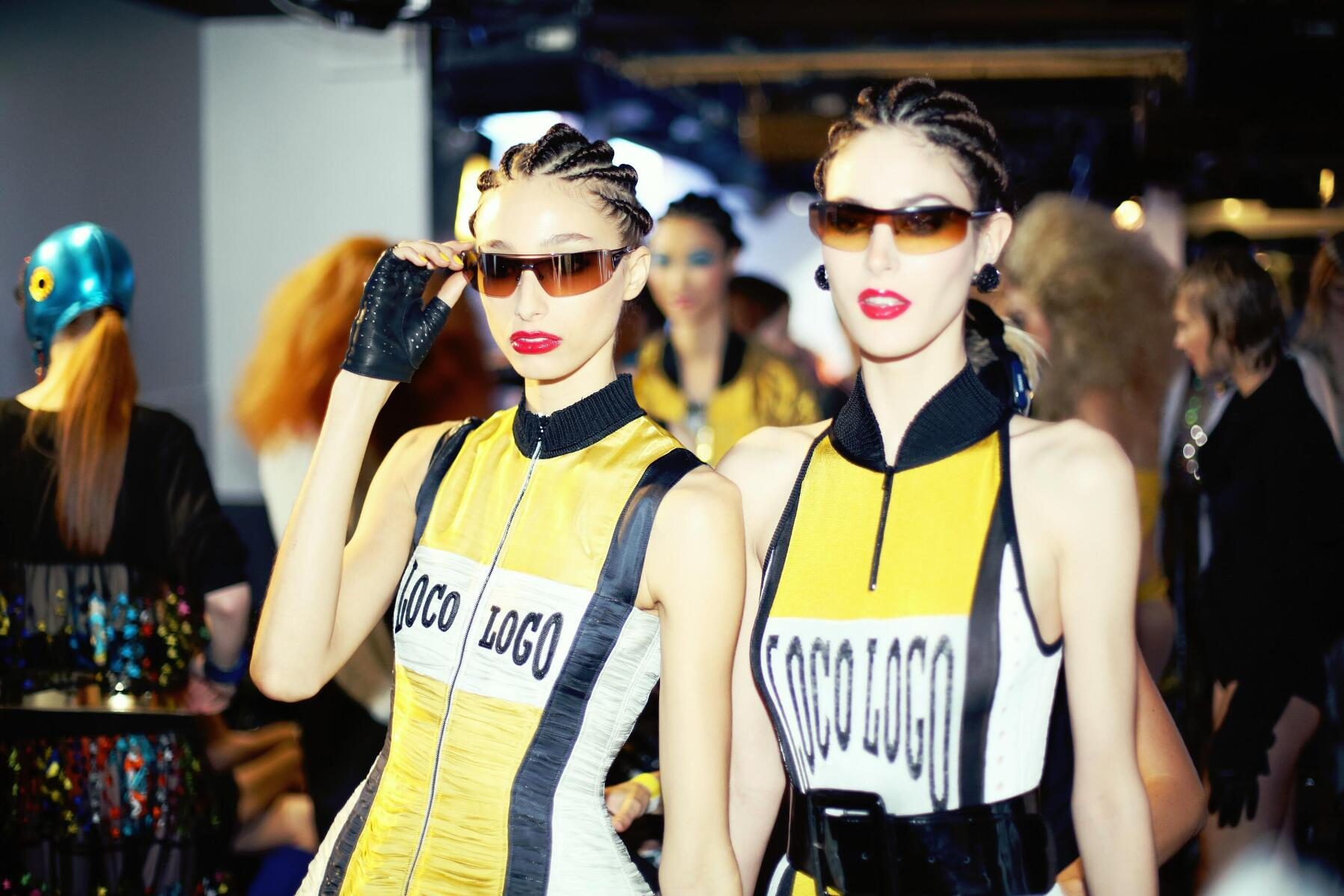 Backstage Jean Paul Gaultier SS 2015 Models