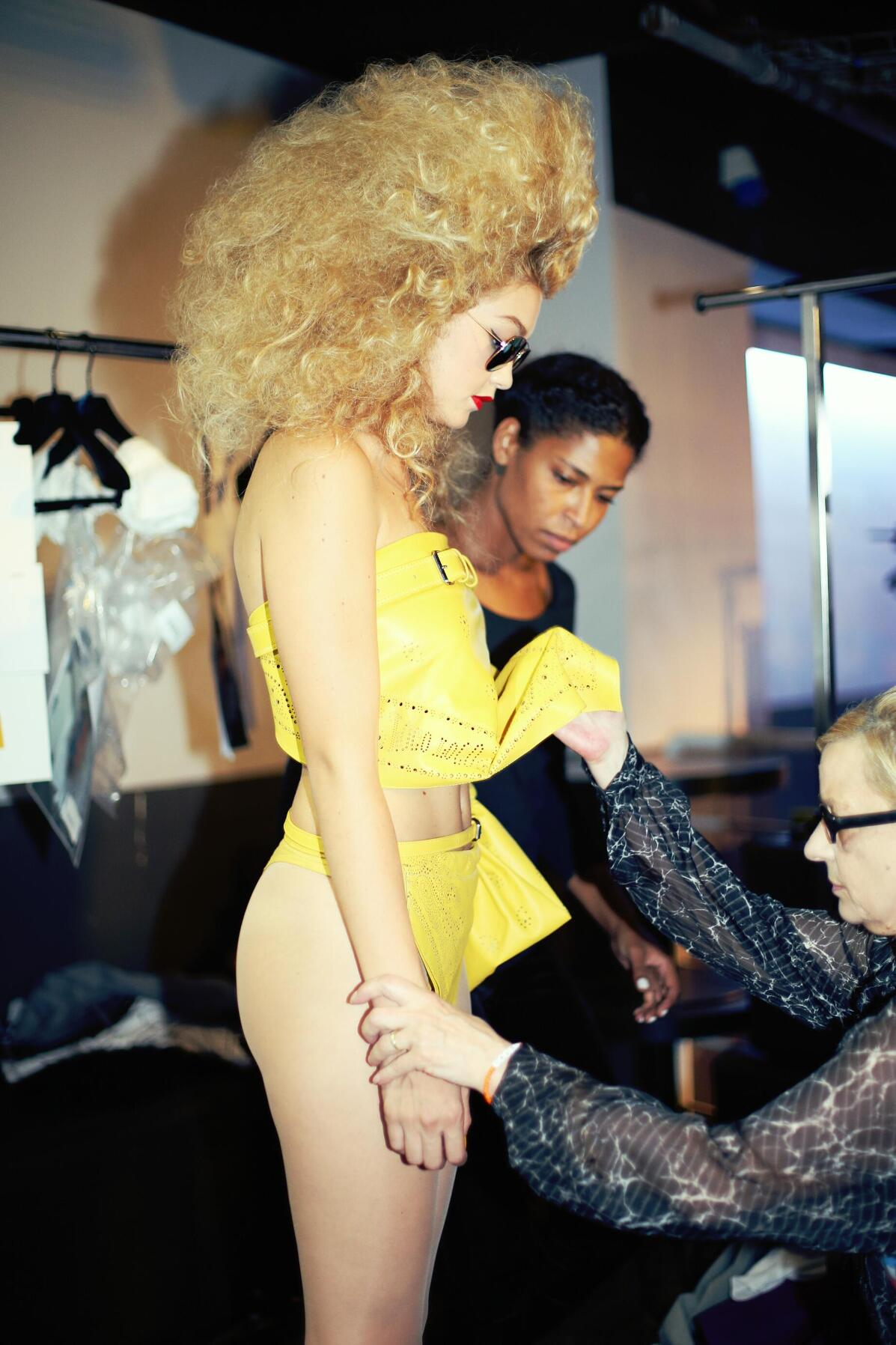 Backstage Jean Paul Gaultier Spring Summer 2015 Woman Fashion Model Paris