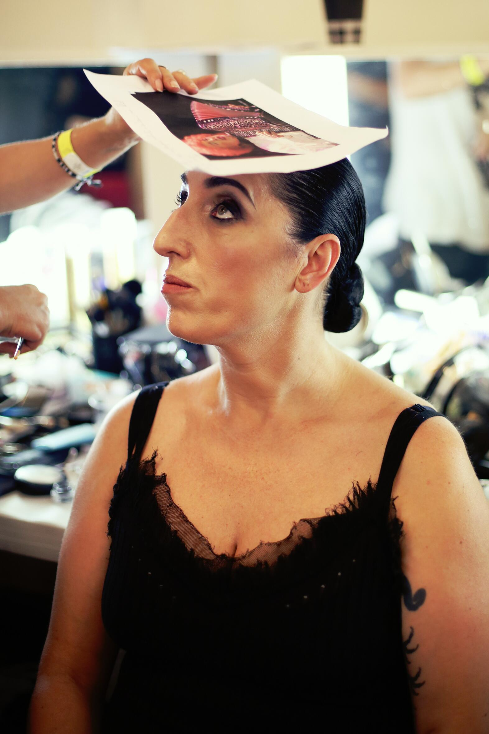 Fashion Model Backstage Jean Paul Gaultier Hair Style