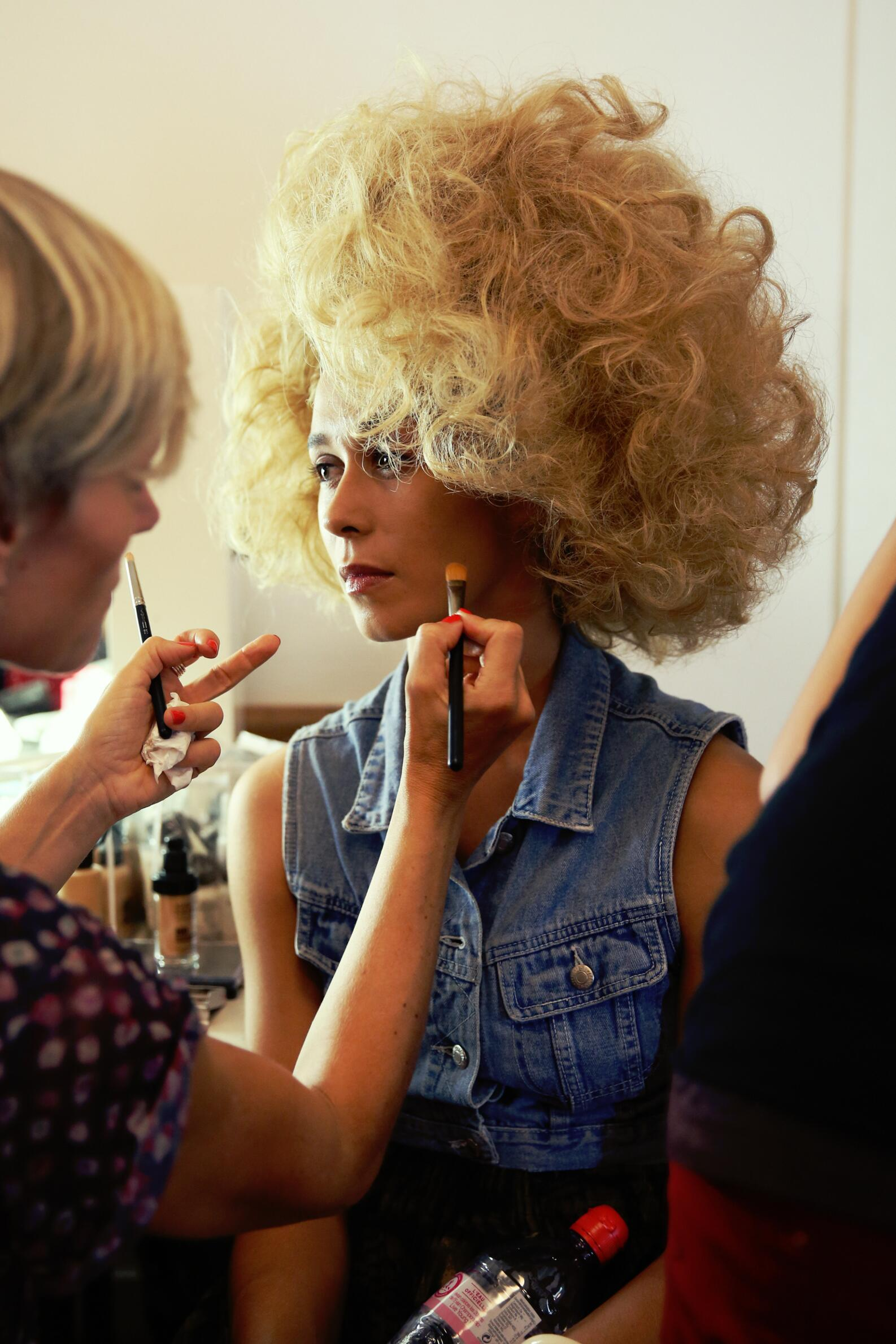 Fashion Model Jean Paul Gaultier Backstage Make Up