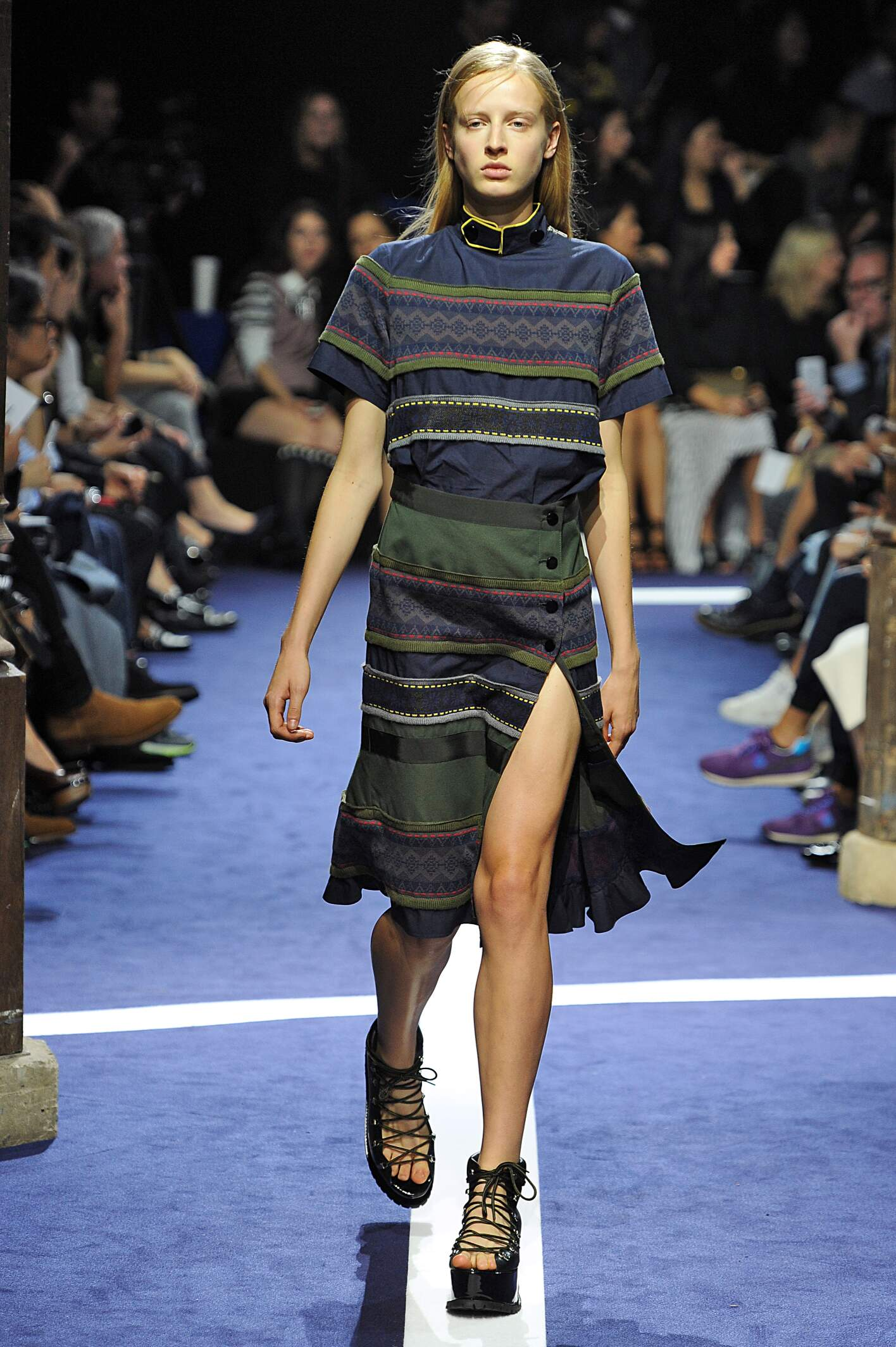 Fashion Model Sacai Catwalk