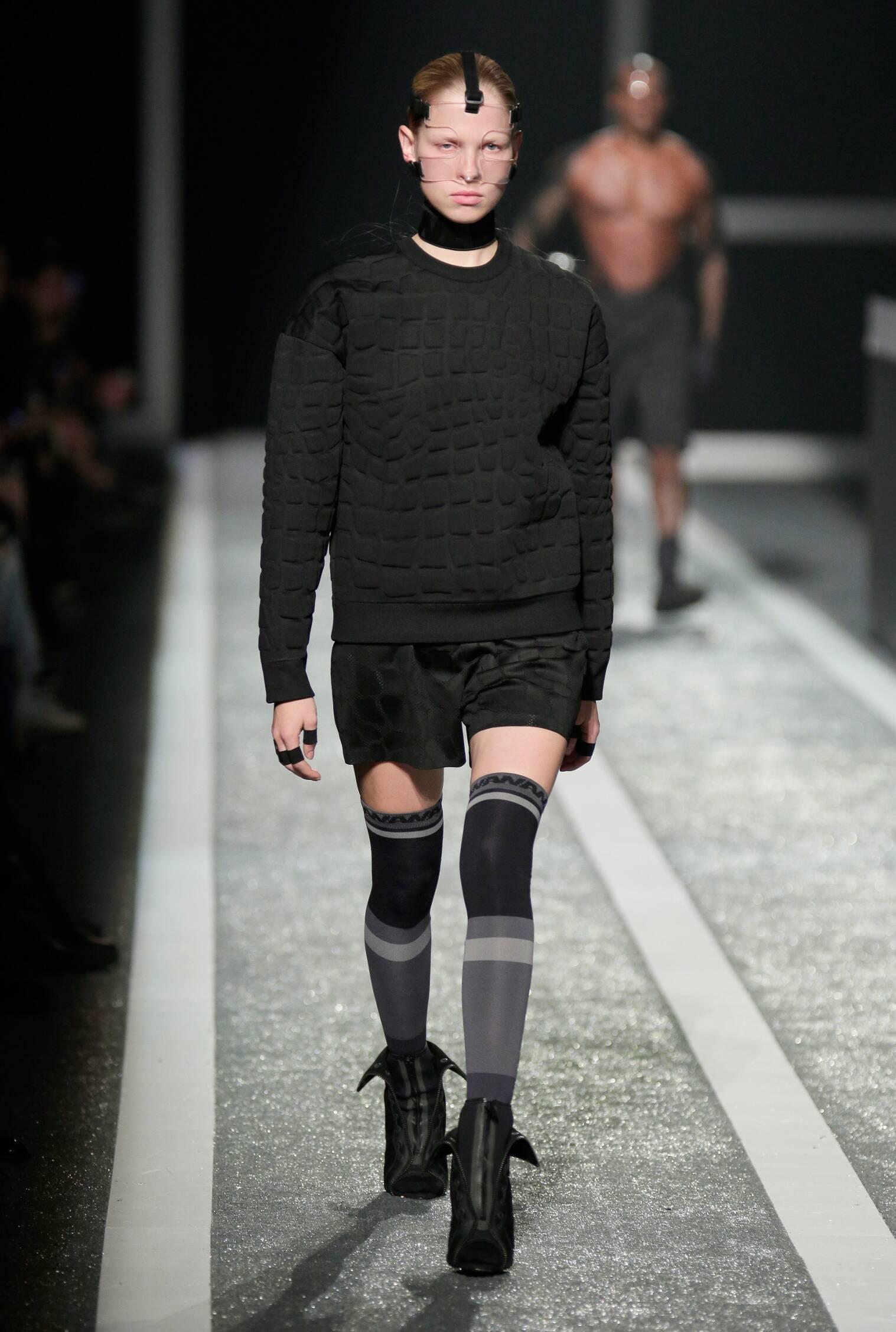 Fashion Woman Model Alexander Wang for H&M Runway