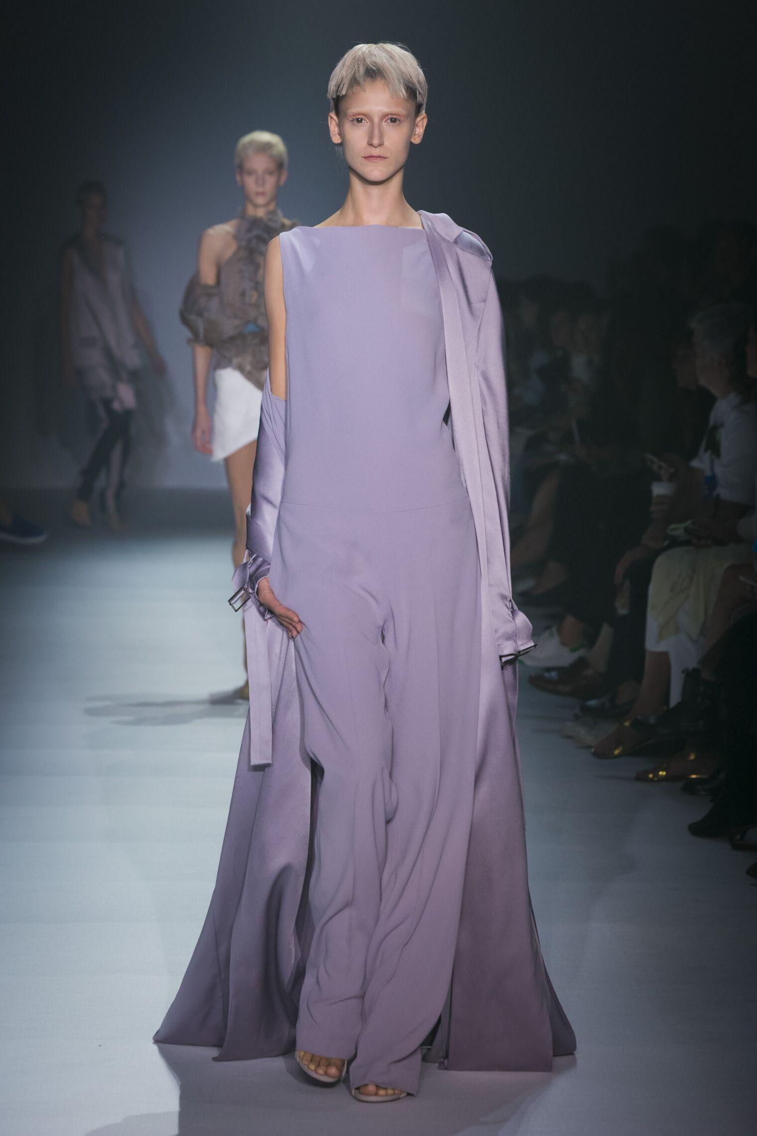 Fashion Woman Model Haider Ackermann Catwalk