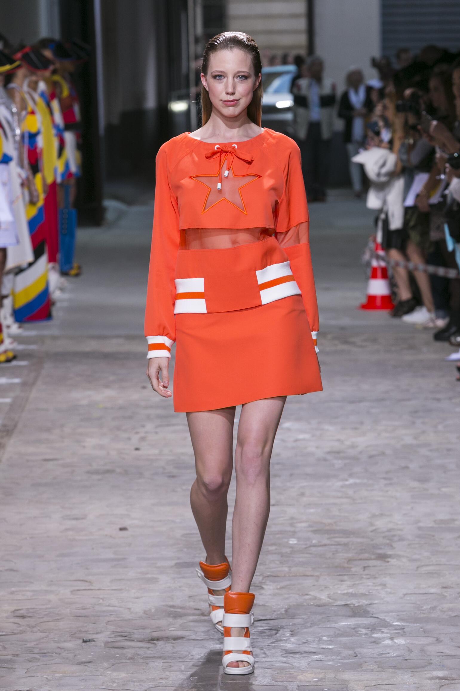 Fashion Woman Model Jean-Charles de Castelbajac Catwalk