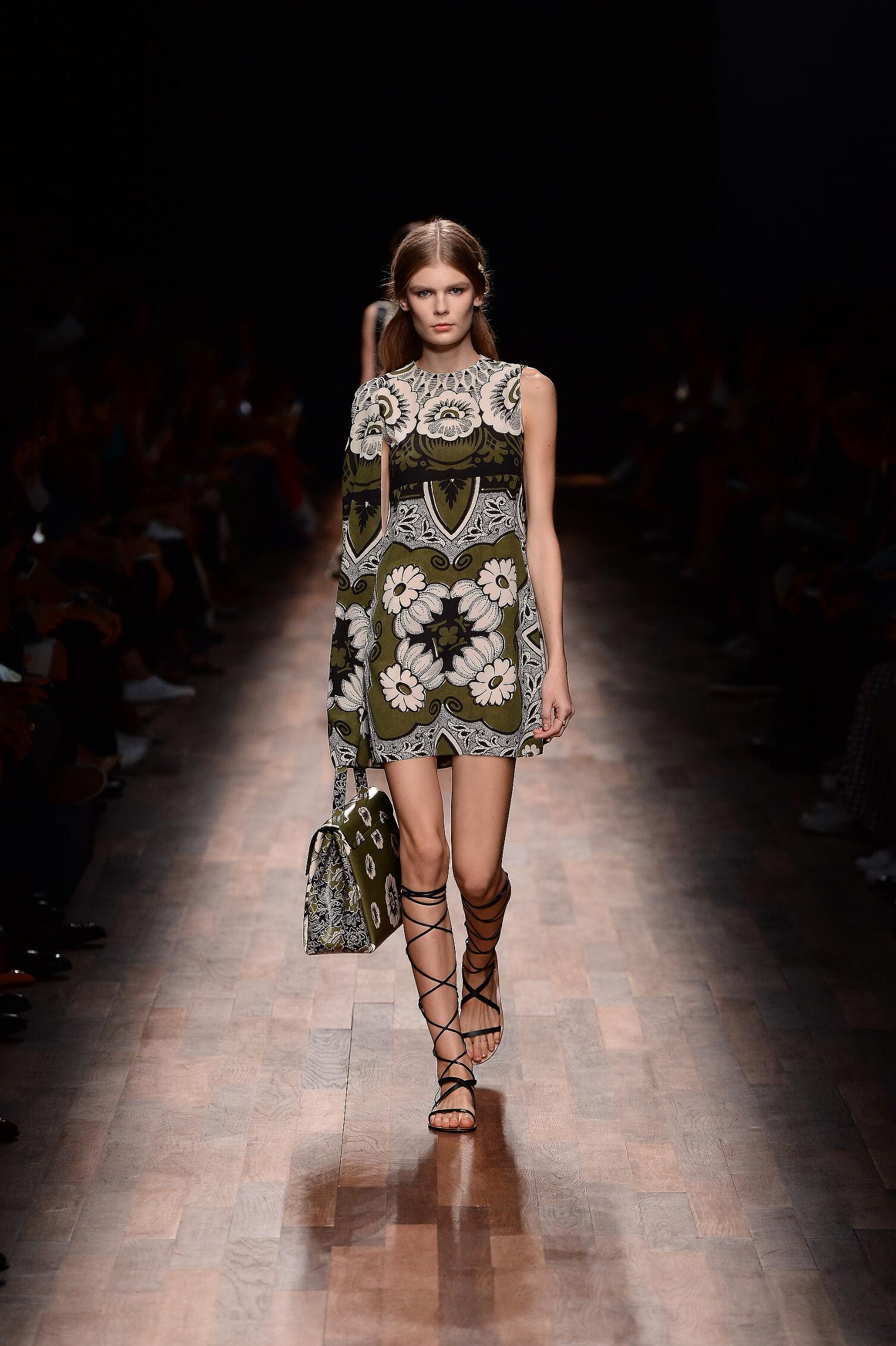 Fashion Woman Model Valentino Catwalk