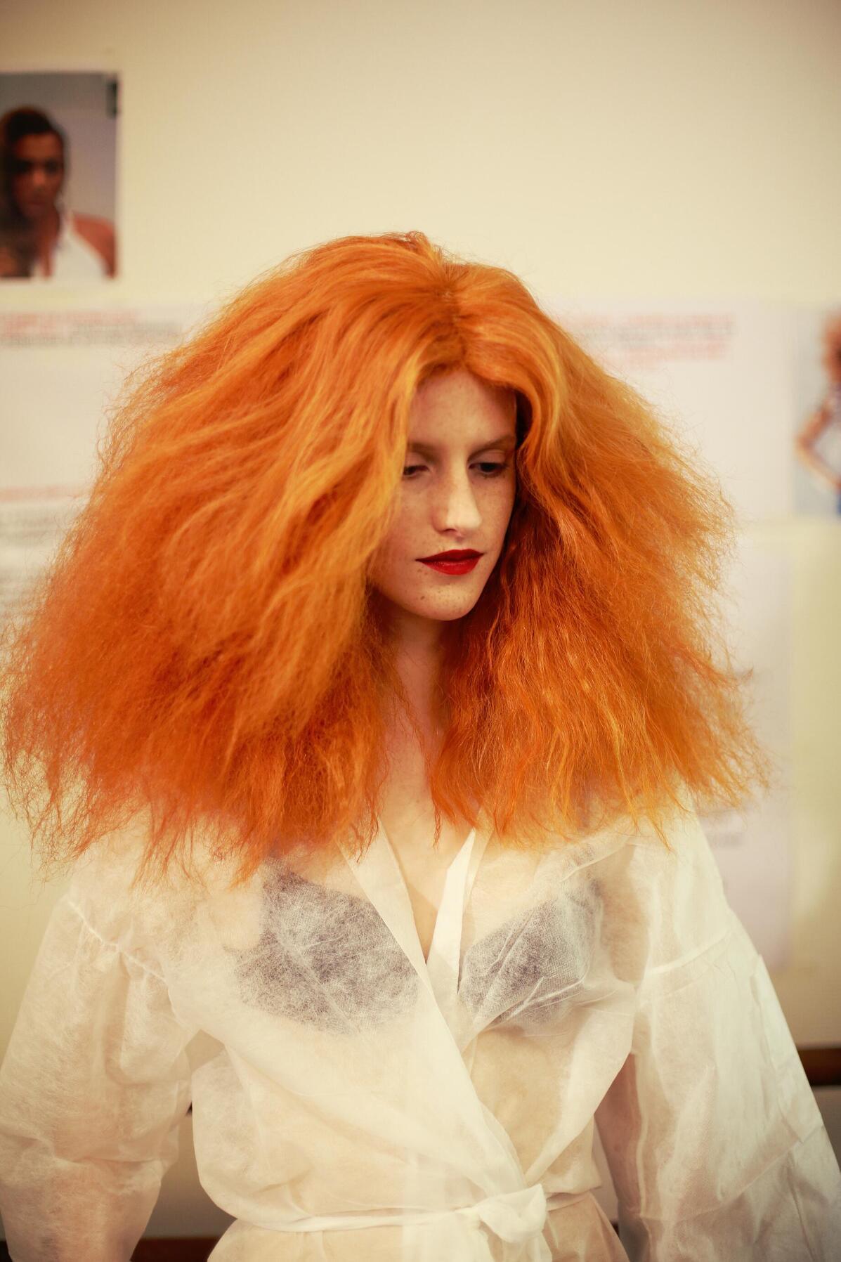 Jean Paul Gaultier Backstage Hair Style