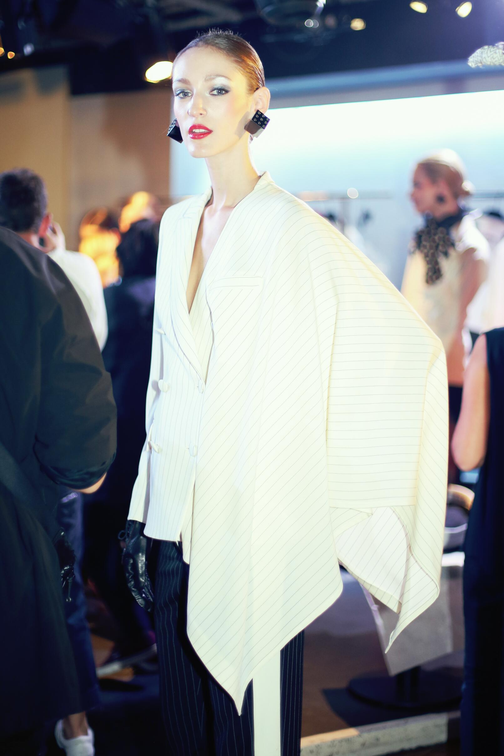 Jean Paul Gaultier SS 2015 Fashion Model Backstage Paris