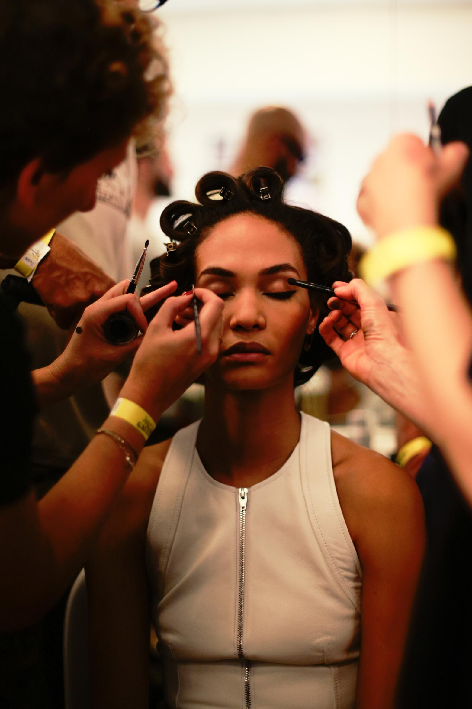 Jean Paul Gaultier SS 2015 Woman Backstage Make Up