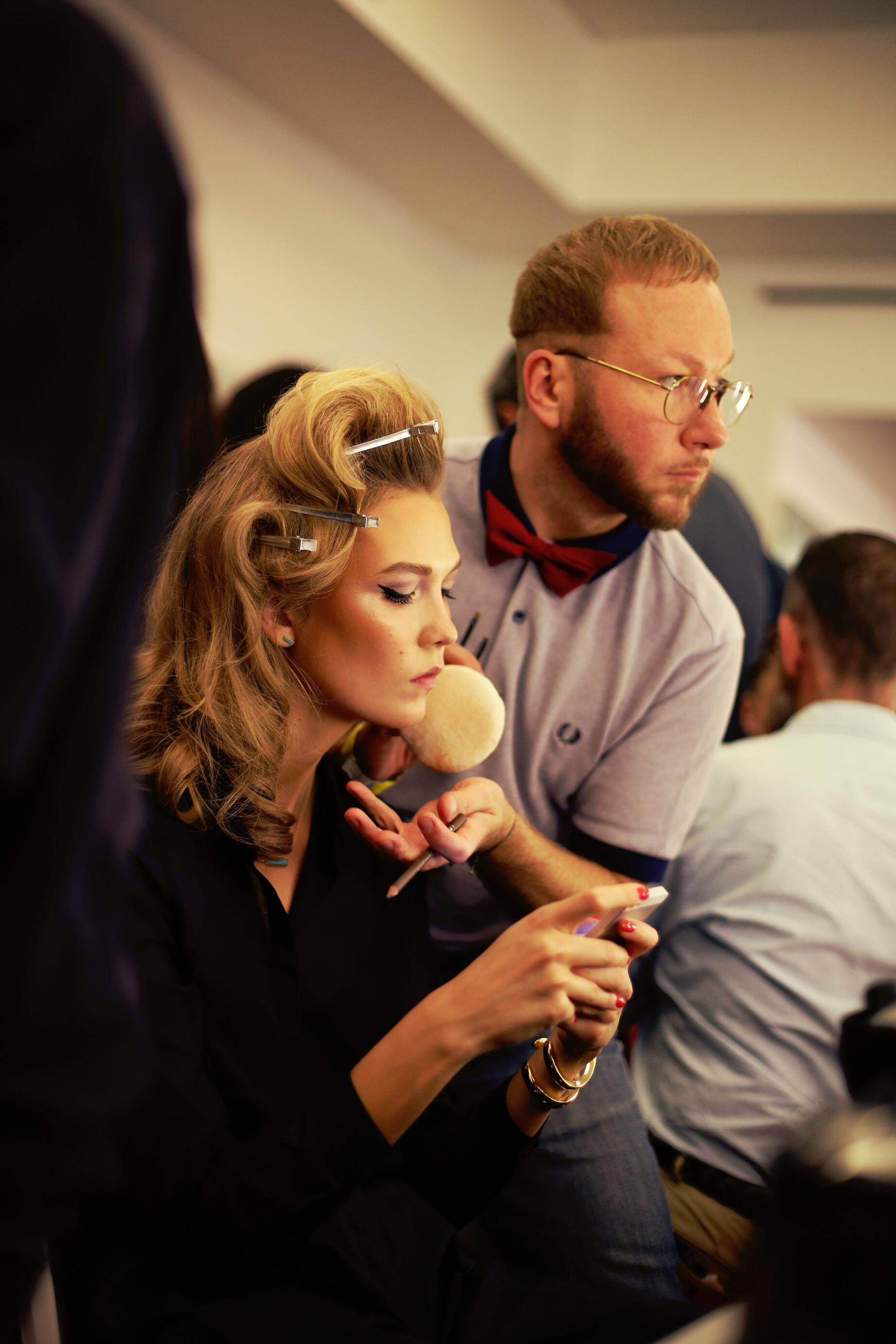 Model Backstage Jean Paul Gaultier Hair Style