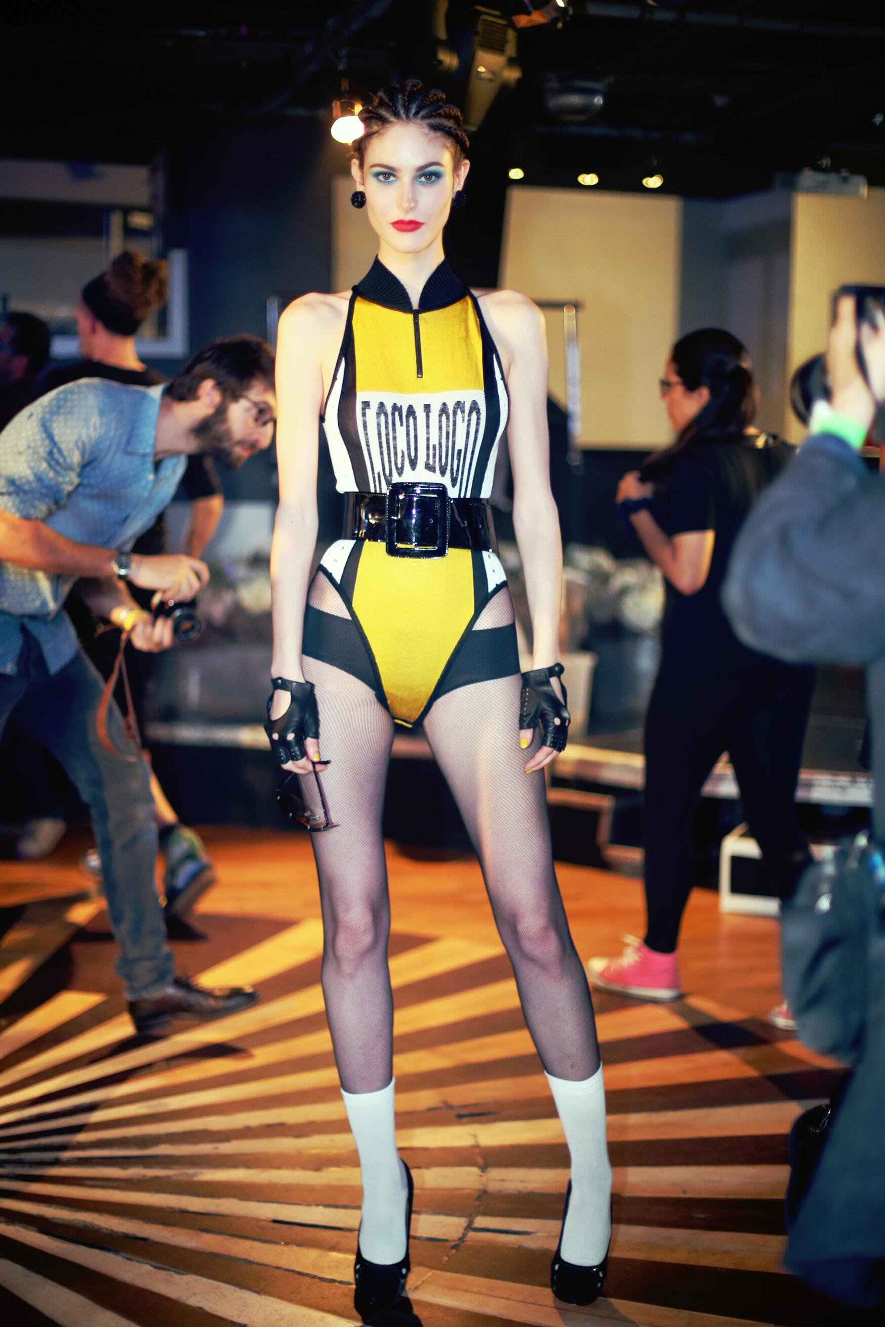 Model Backstage Jean Paul Gaultier Paris