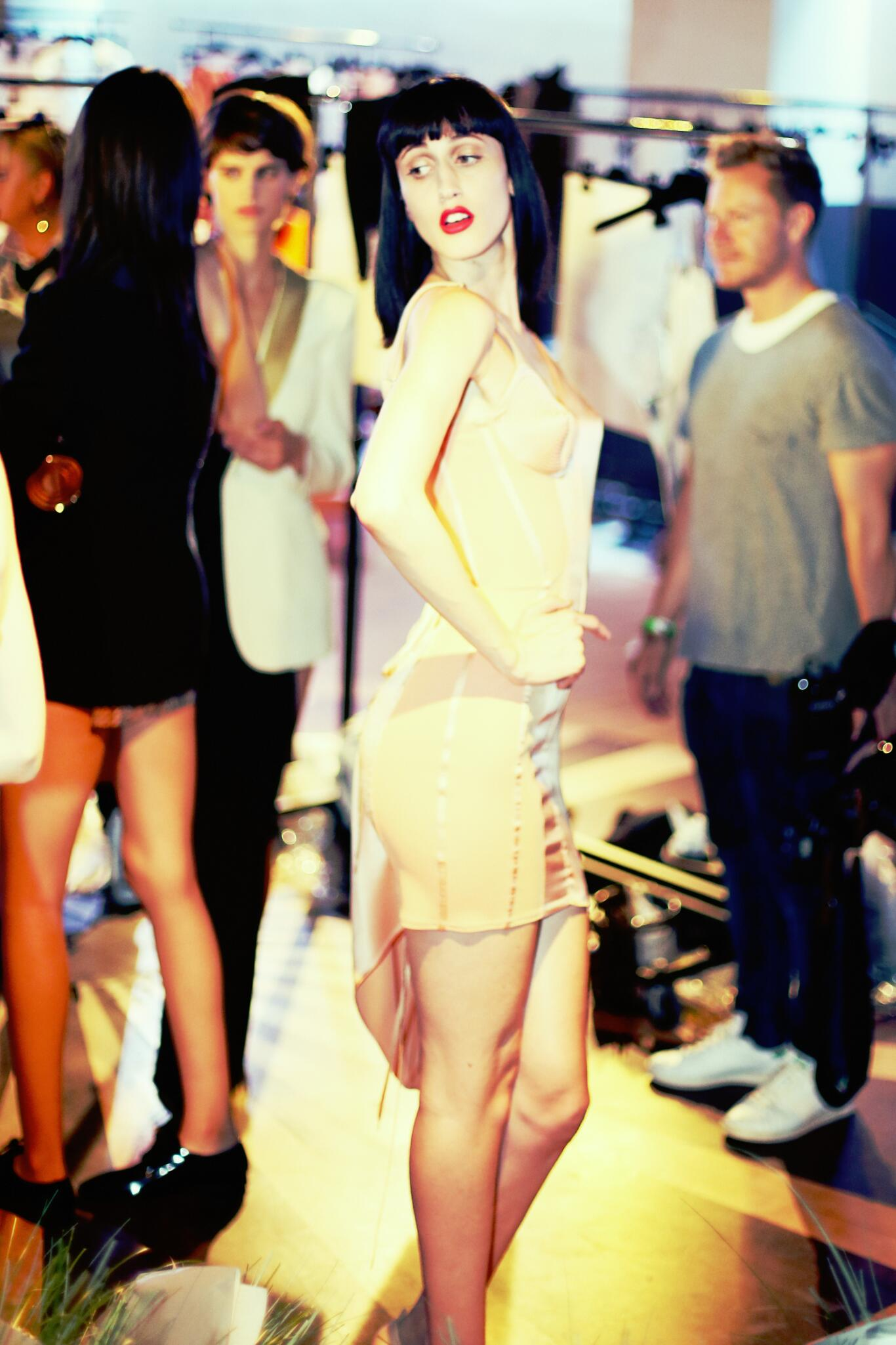 Model Jean Paul Gaultier Backstage Paris