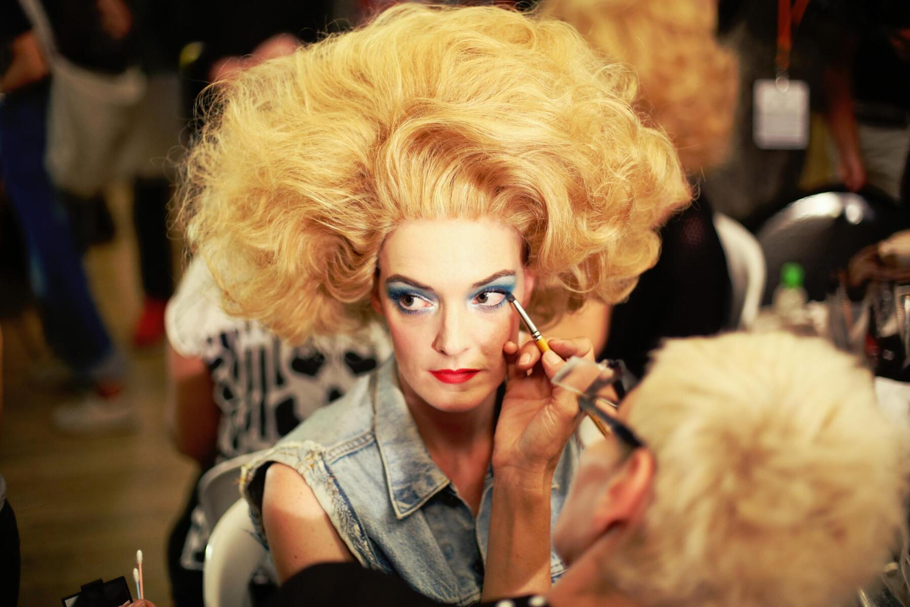 Model Jean Paul Gaultier Backstage Spring Summer 2015 Make Up