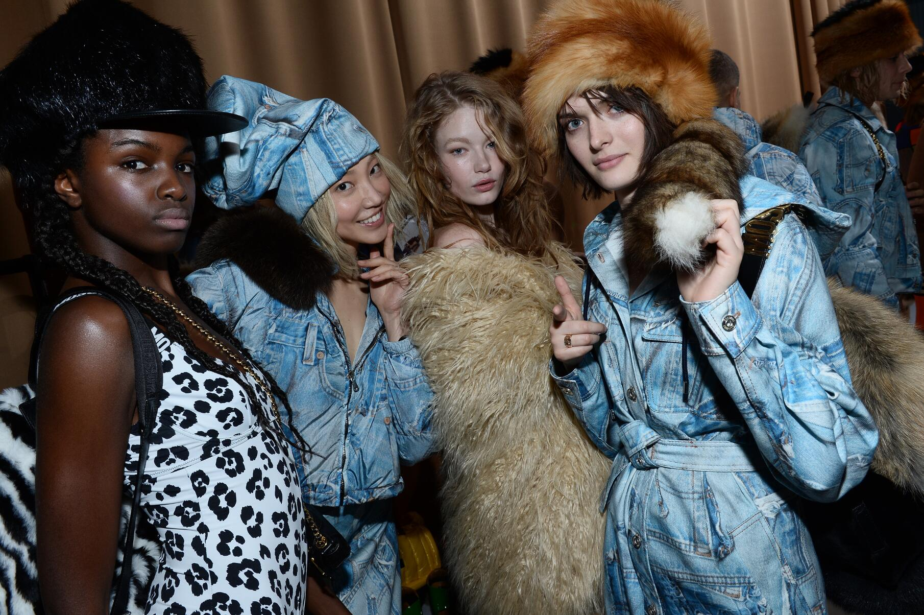 2015 Backstage Moschino Women Model