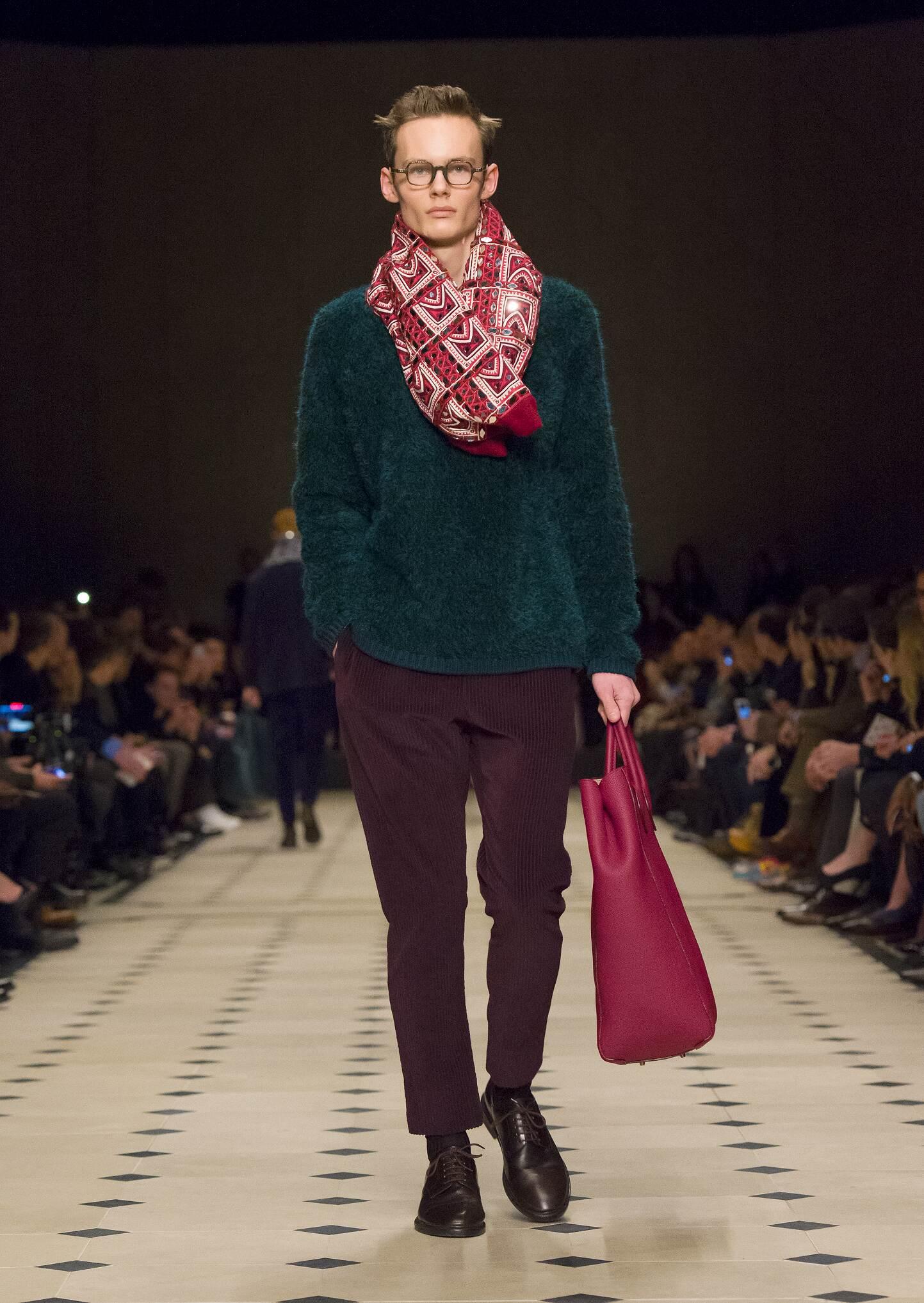 2015 Catwalk Burberry Prorsum Man Fashion Show Winter
