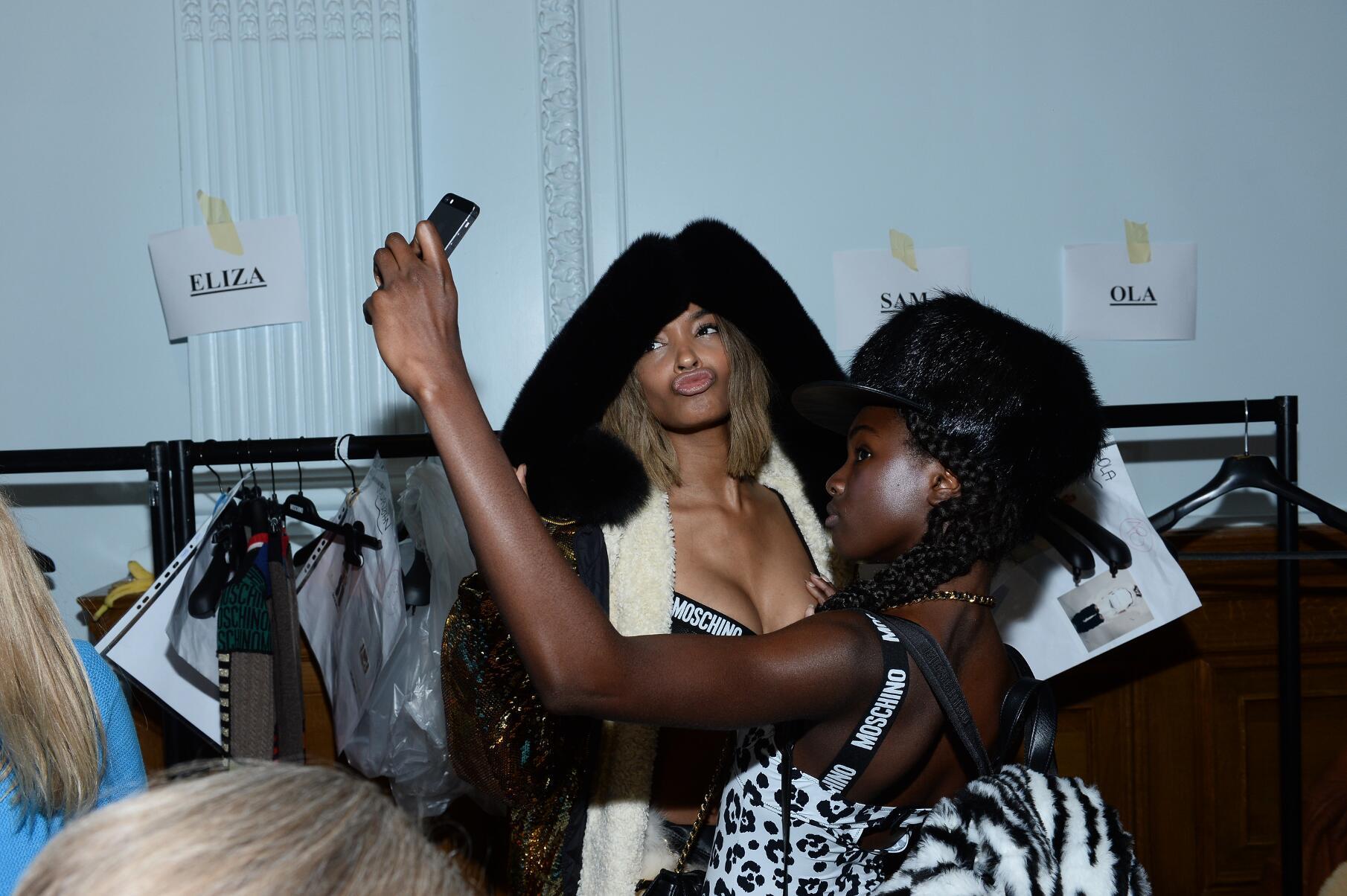2015 Fashion Models Backstage Moschino