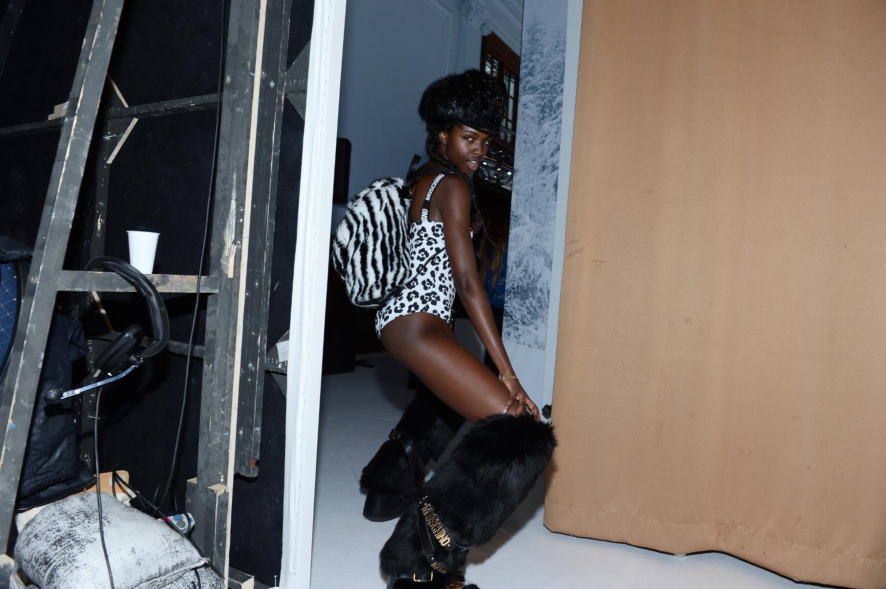 2015 Model Moschino Backstage