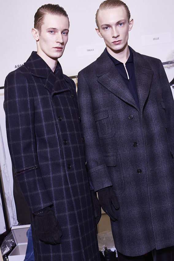 2015 Models Backstage Ermenegildo Zegna Couture