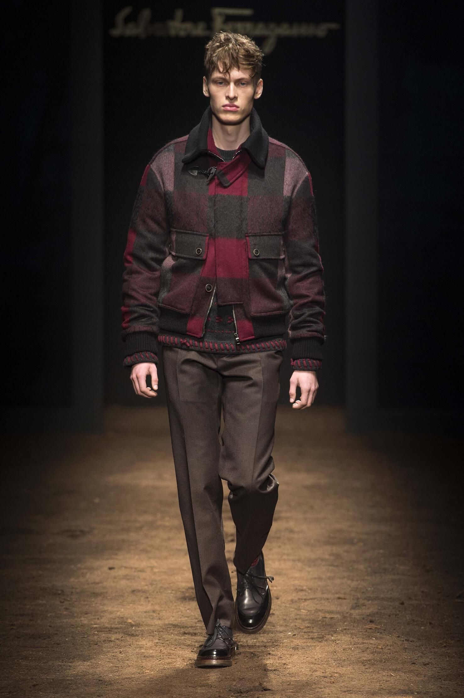 2016 Fall Fashion Man Salvatore Ferragamo