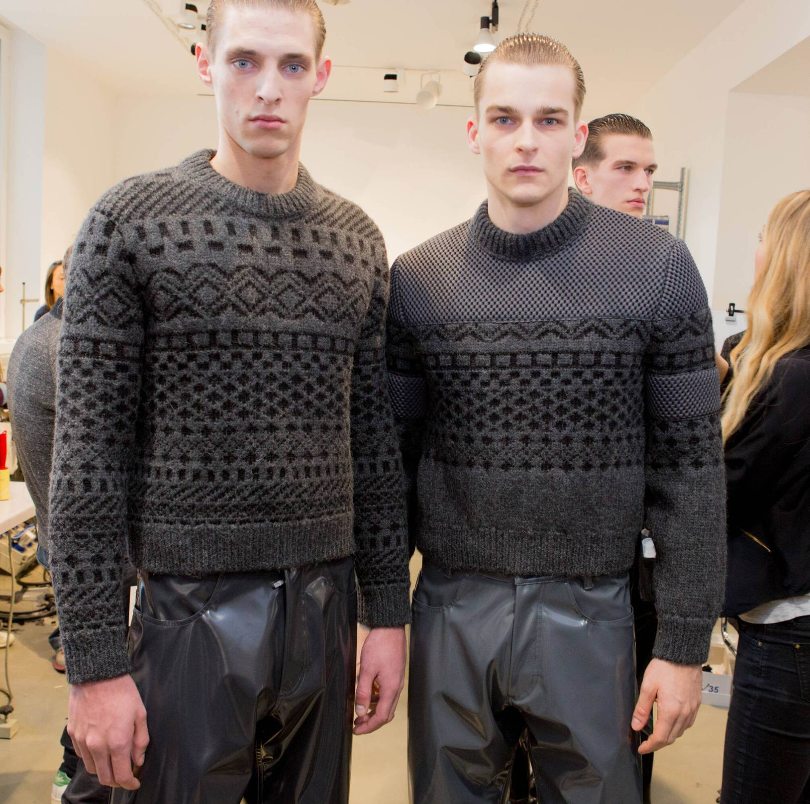 Backstage Calvin Klein Collection Fall Winter 2015 Menswear