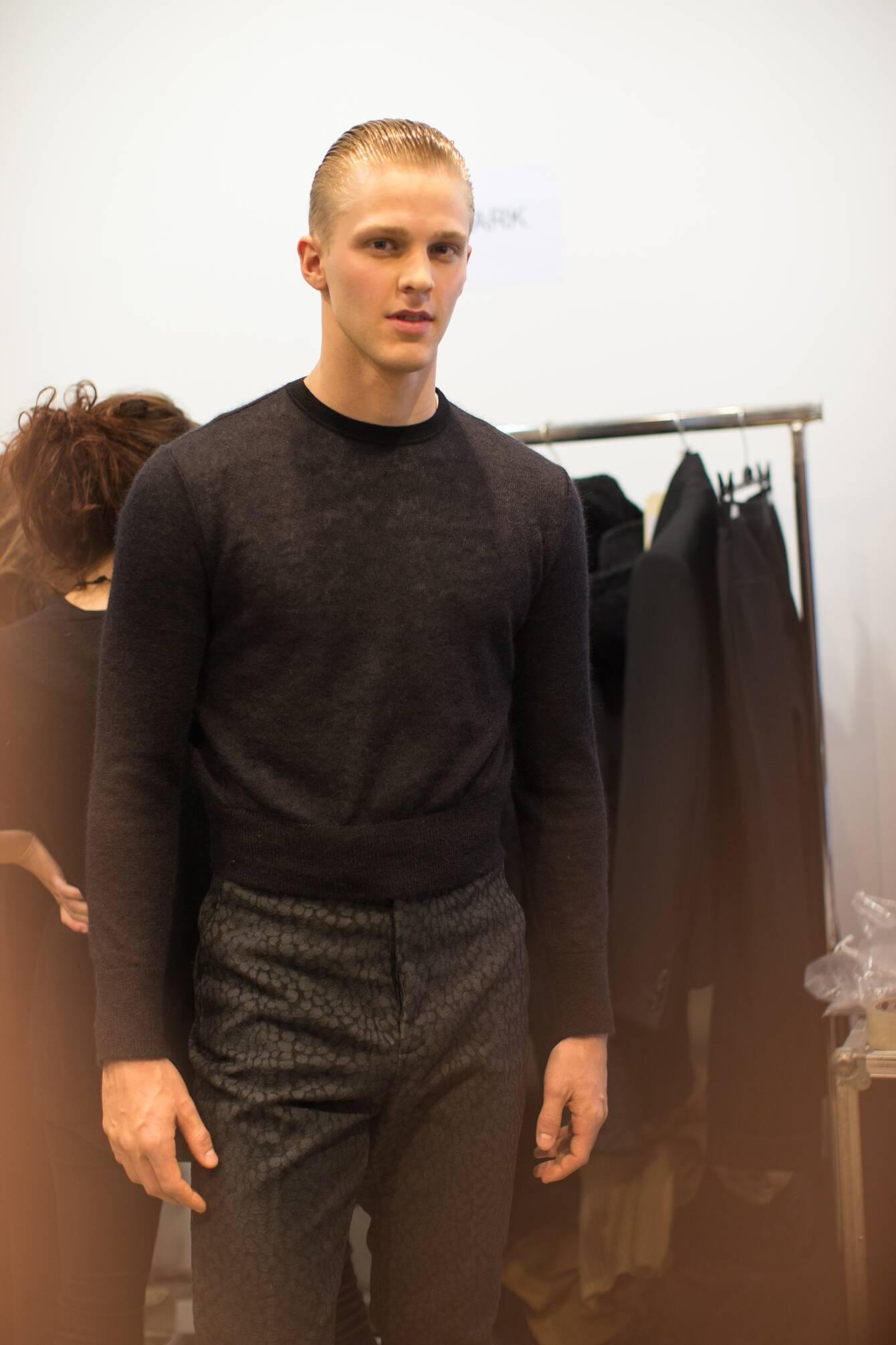 Backstage Calvin Klein Collection Fashion Show