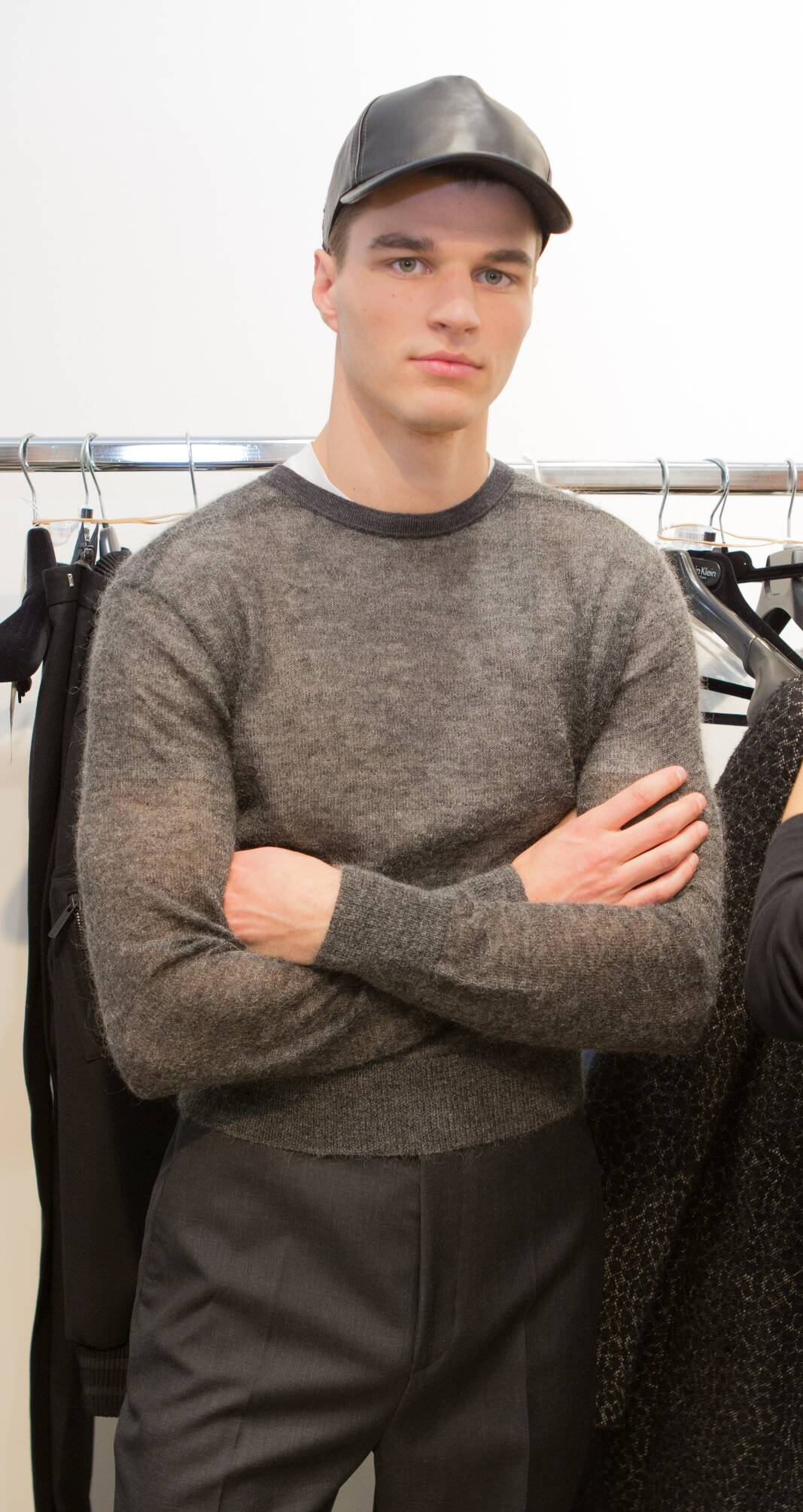 Backstage Calvin Klein Collection Man Model