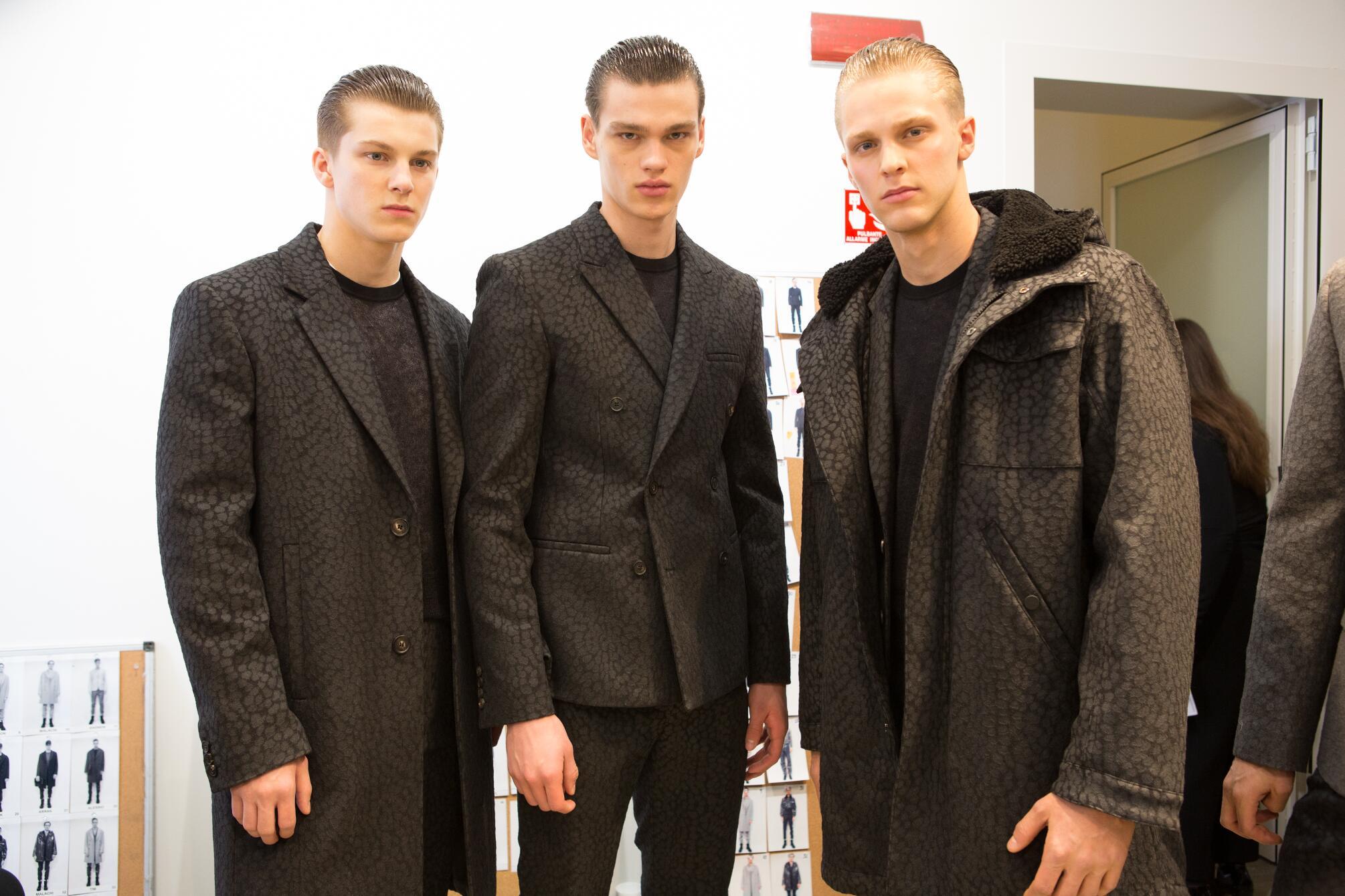 Backstage Calvin Klein Collection Menswear