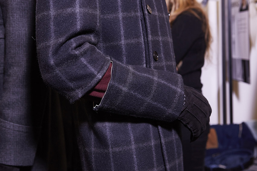 Backstage Ermenegildo Zegna Couture Detail Fall 2015