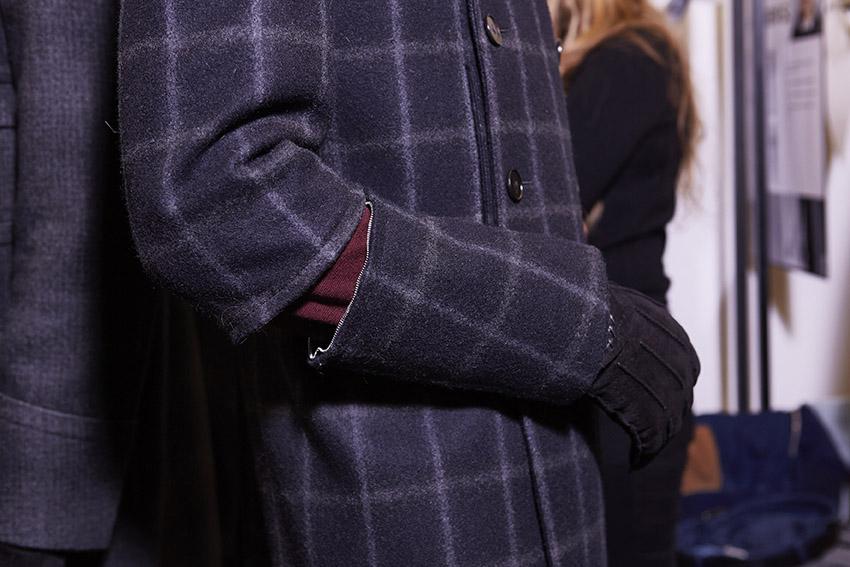 Backstage Ermenegildo Zegna Couture Detail Fall 2015