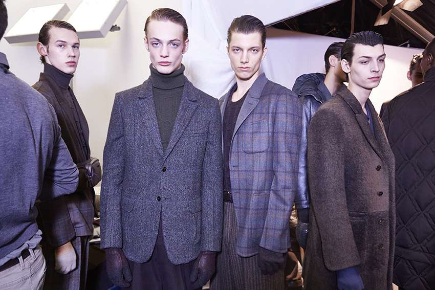 Backstage Ermenegildo Zegna Couture Fall Winter 2015 Menswear