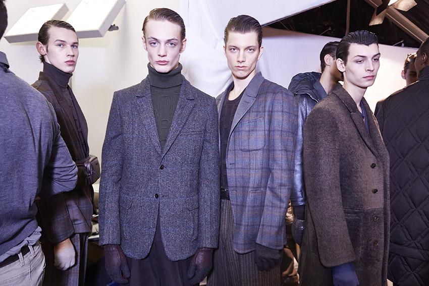 Backstage Ermenegildo Zegna Couture Fall Winter 2015 Menswear