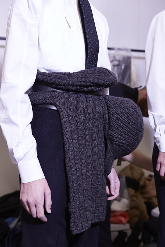 Backstage Ermenegildo Zegna Couture Fashion Show