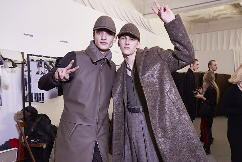 Backstage Ermenegildo Zegna Couture Men 2015 2016