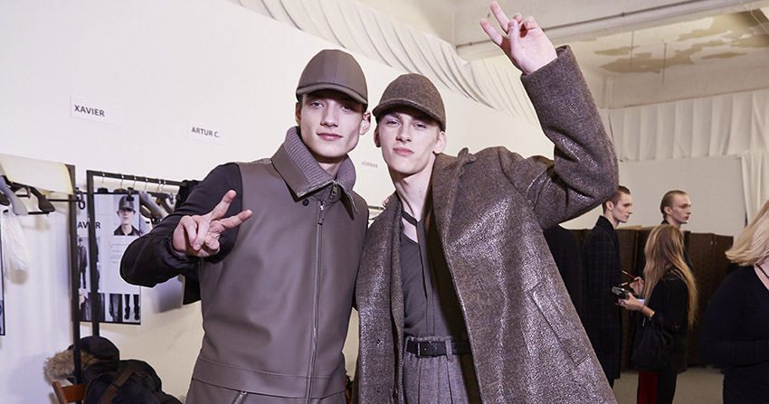 Backstage Ermenegildo Zegna Men FW 2015-2016