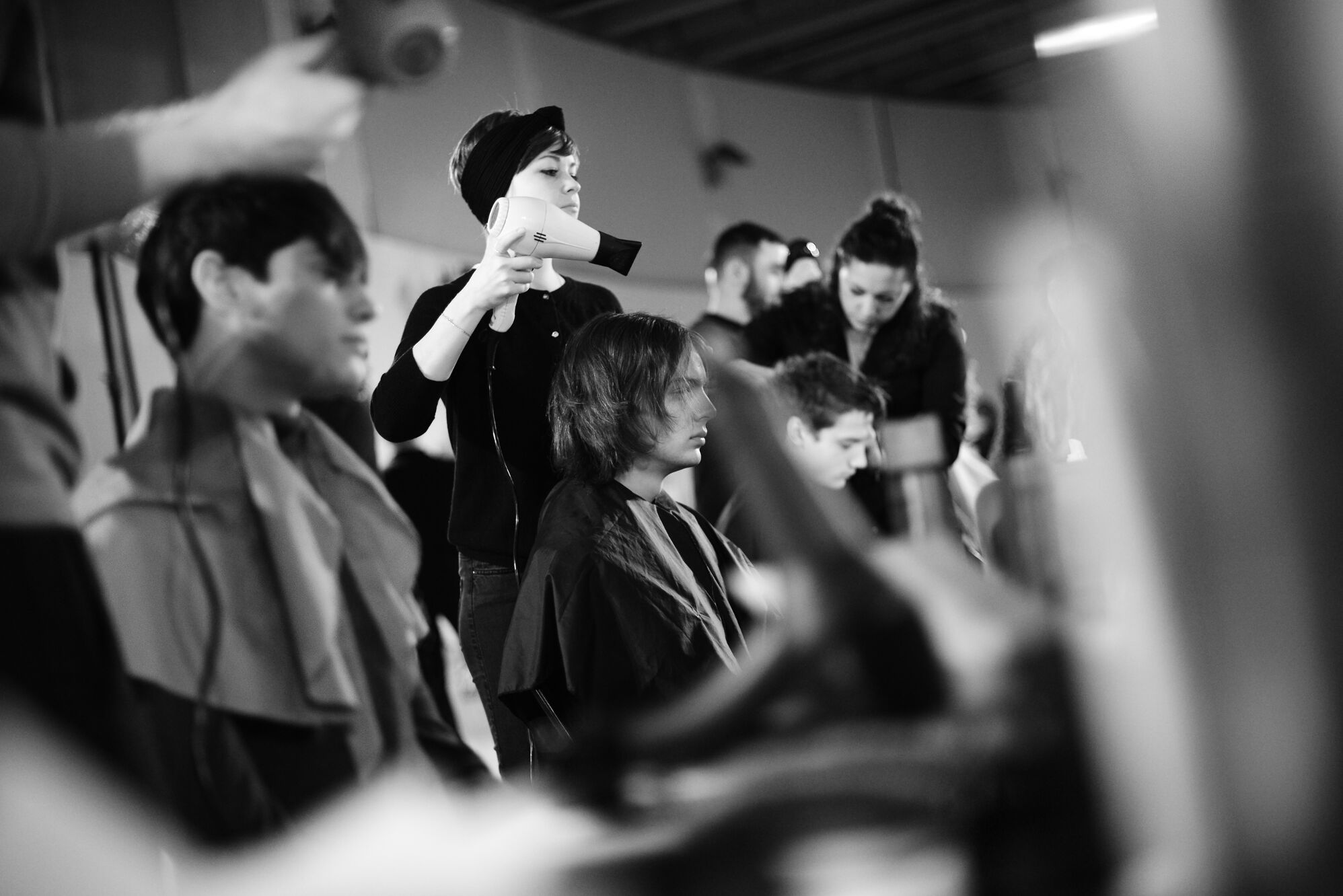 Backstage FW 2015 Hair Stylist Diesel Black Gold