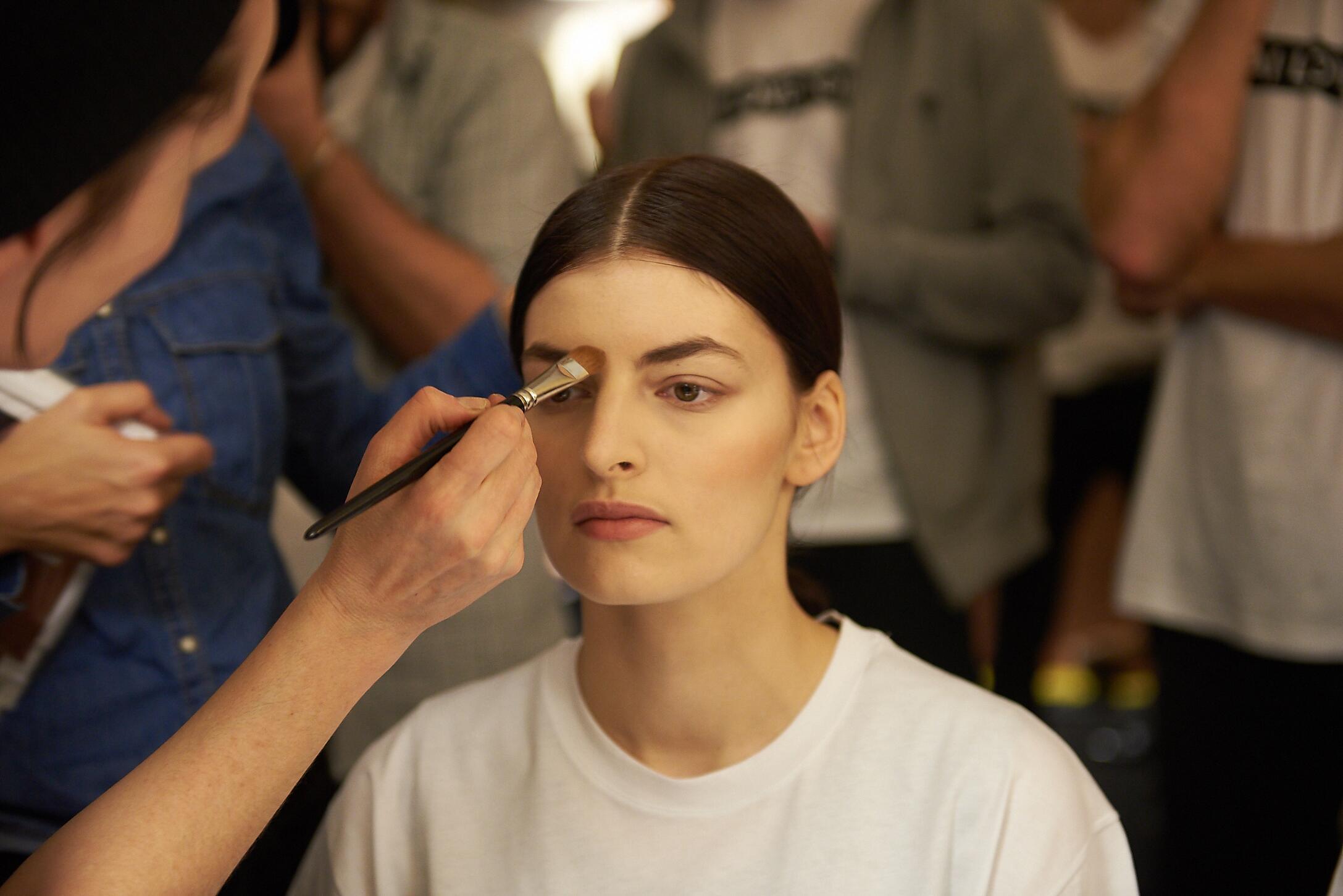 Backstage Makeup Andrea Incontri Man Pitti Immagine Uomo